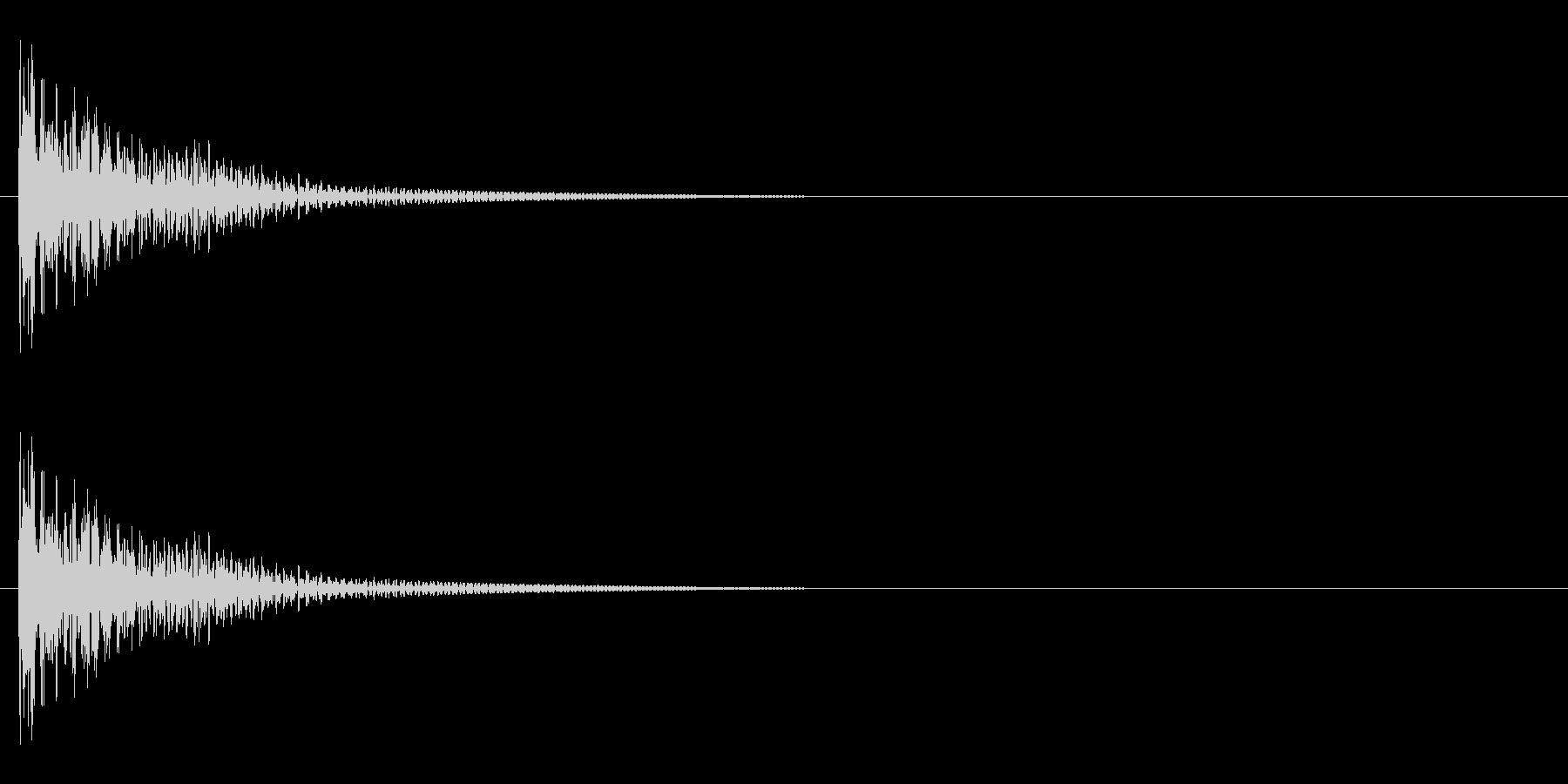 カンッ(一斗缶系金物音)の未再生の波形