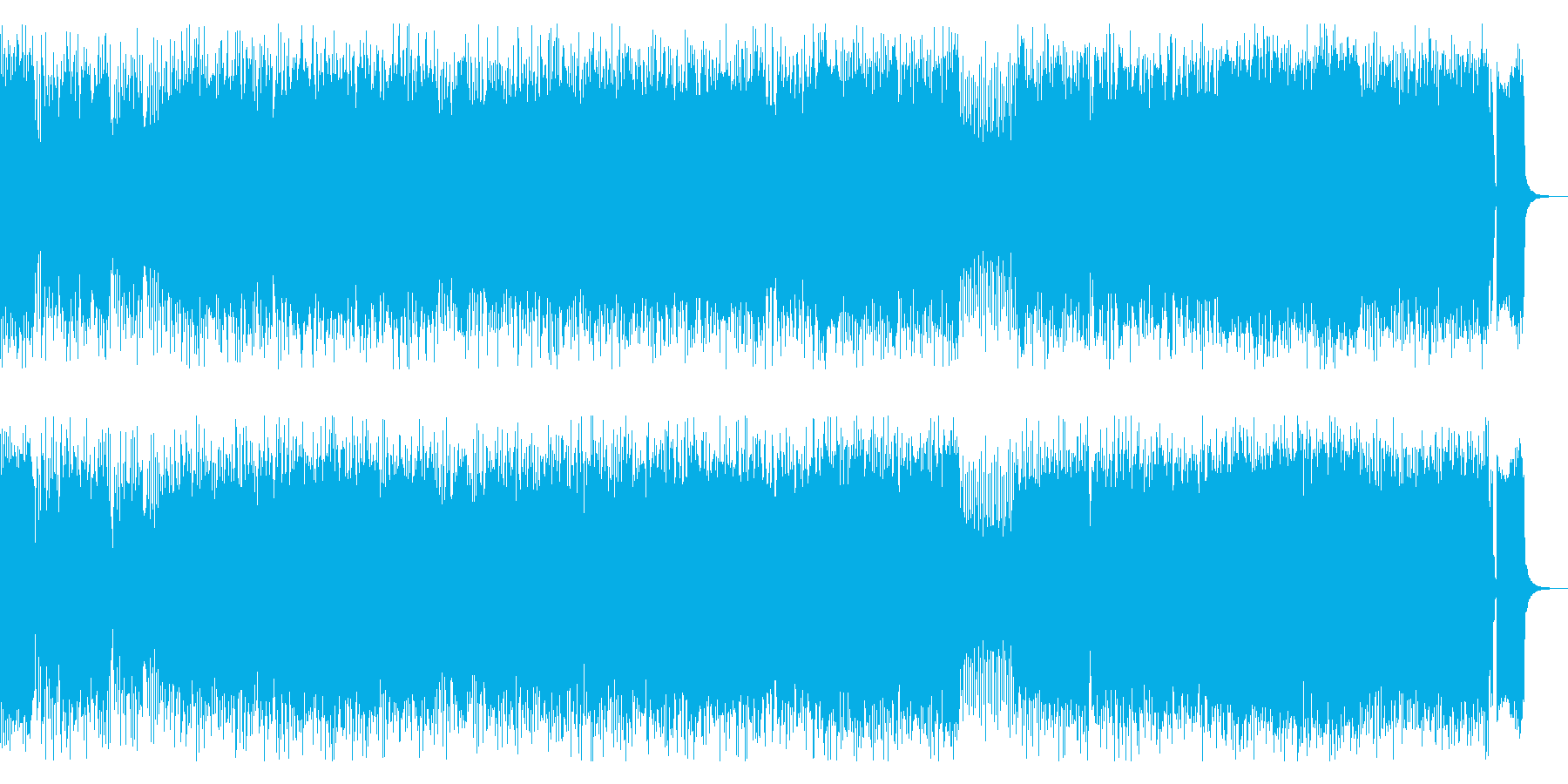 ロック感ある王道的なフュージョンの再生済みの波形