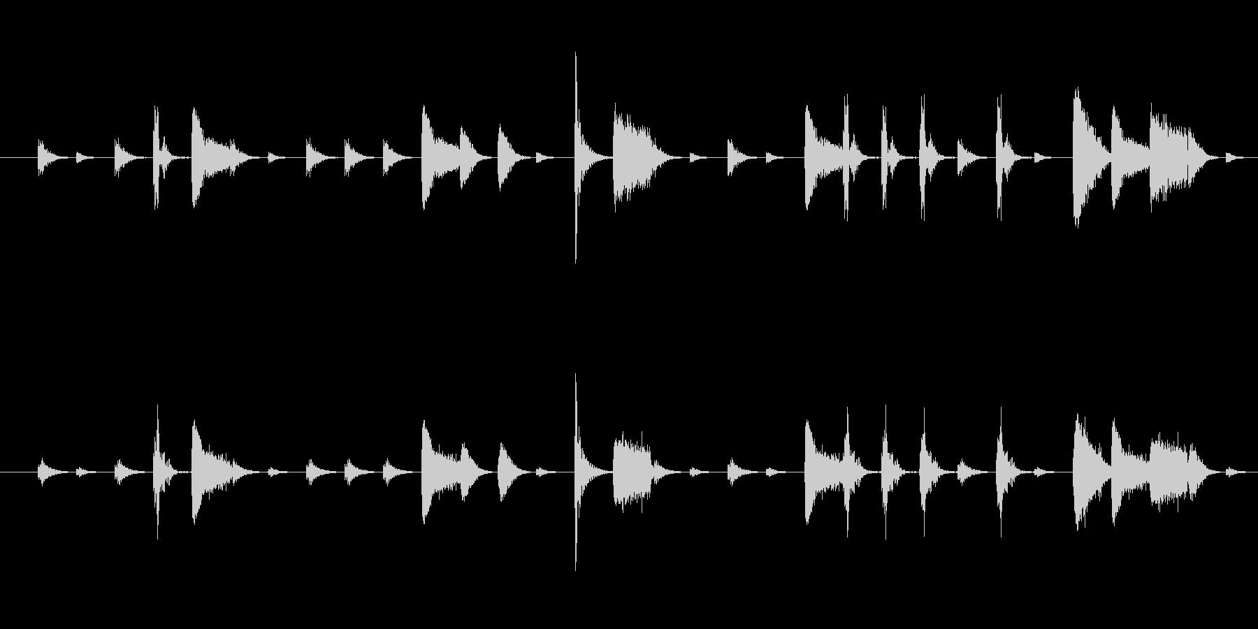 空間系リズムトラック(ドラム)の未再生の波形