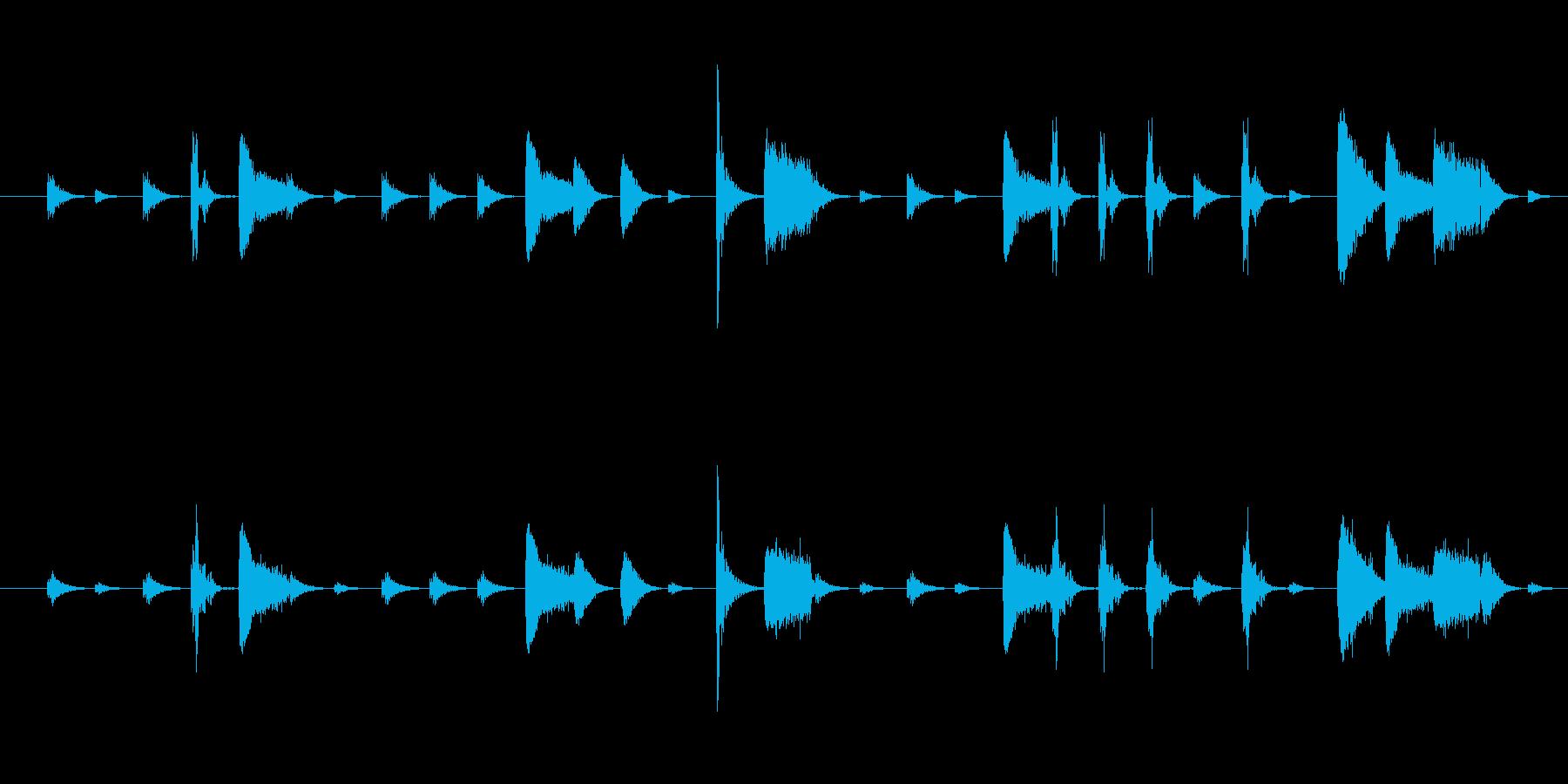 空間系リズムトラック(ドラム)の再生済みの波形