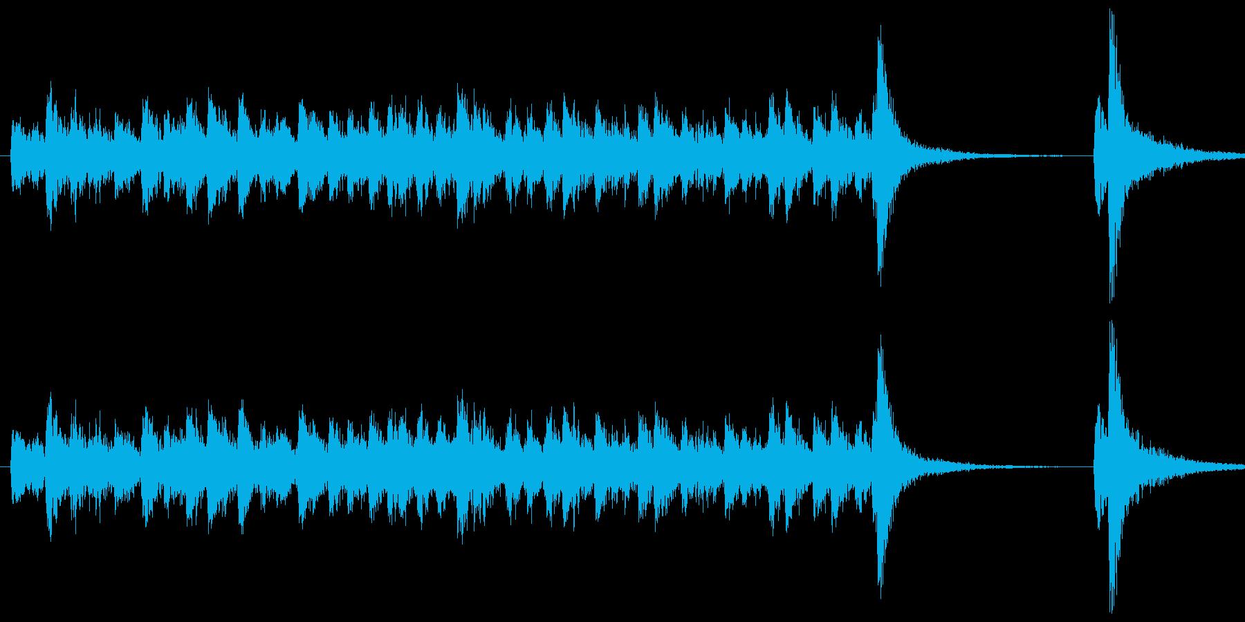 ダラララララ、ダン!というドラムロール…の再生済みの波形