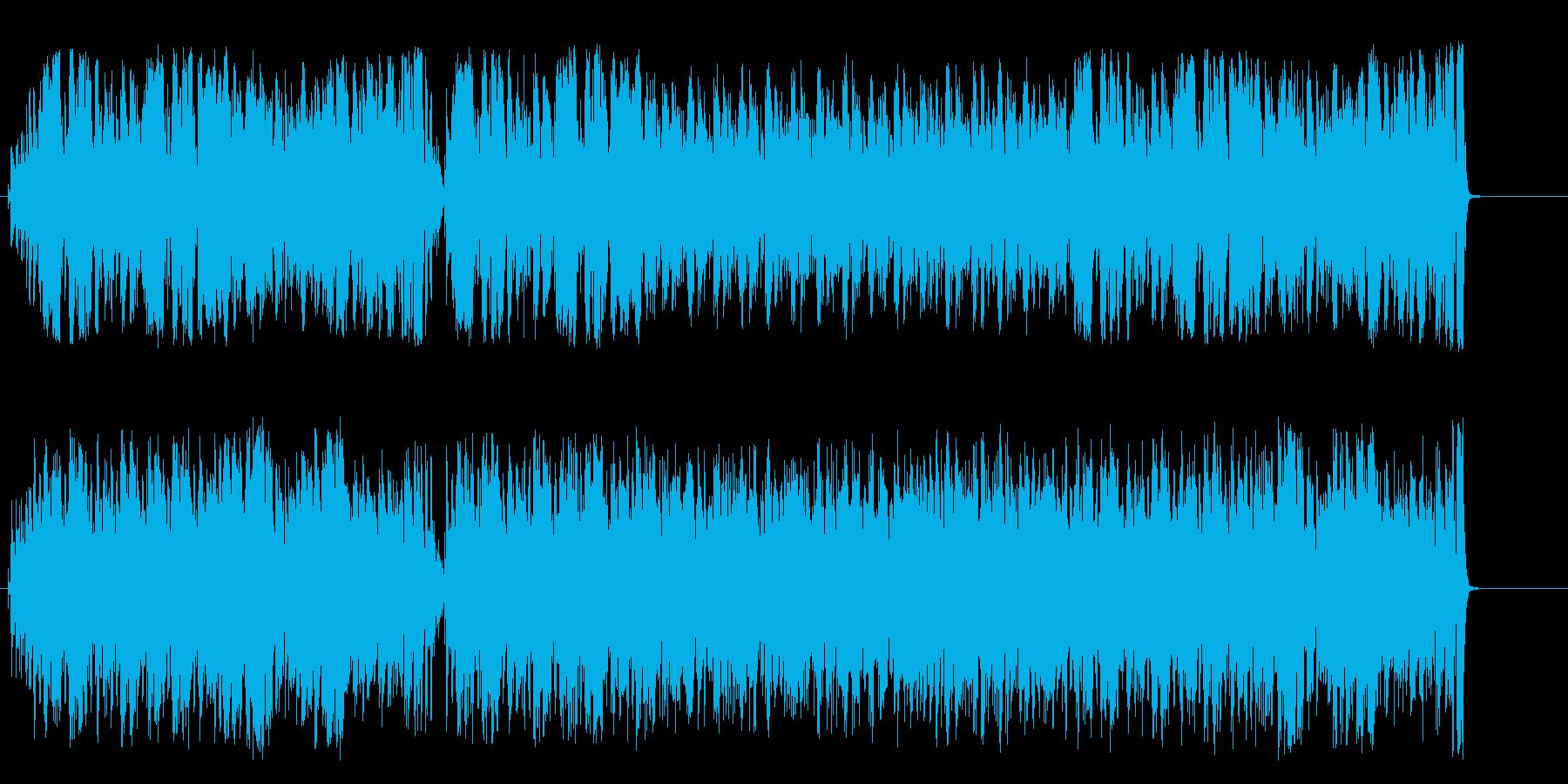 常夏の島 ラテン  海 にぎやか 青空の再生済みの波形