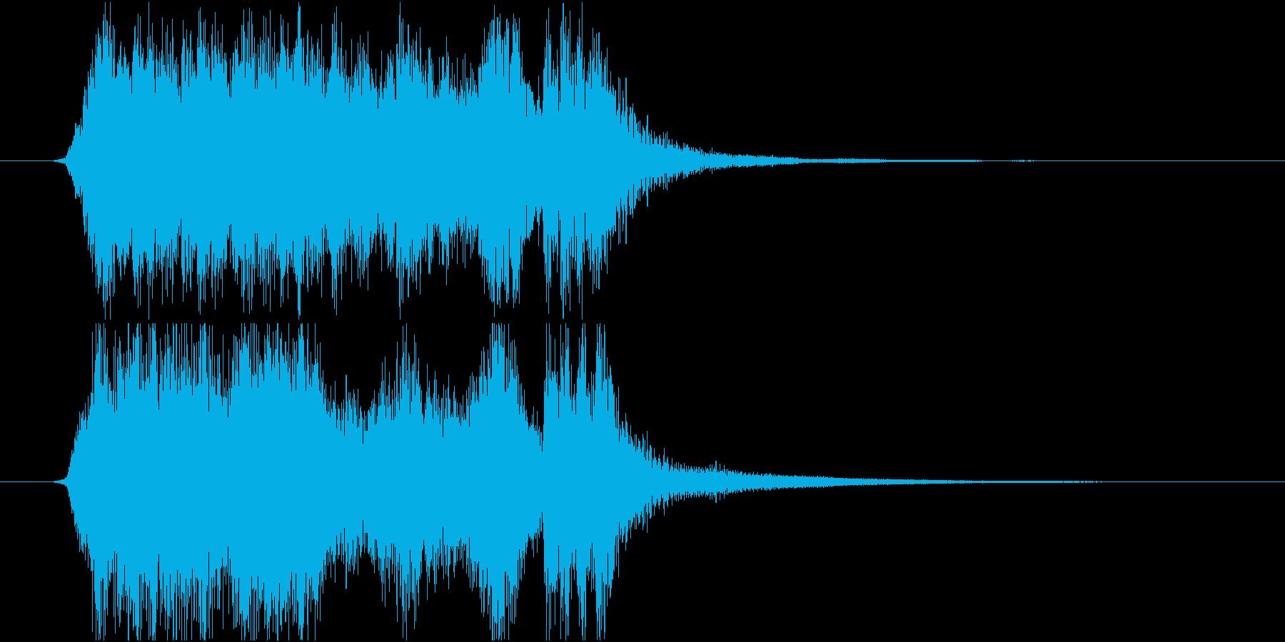 勝利、ハイスコアのファンファーレの再生済みの波形