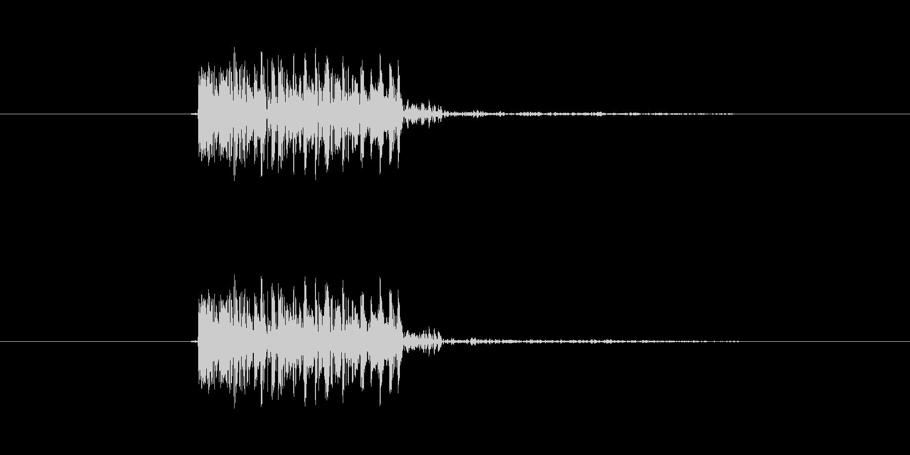 パンチ効果音 打撃 キック ツッコミ の未再生の波形