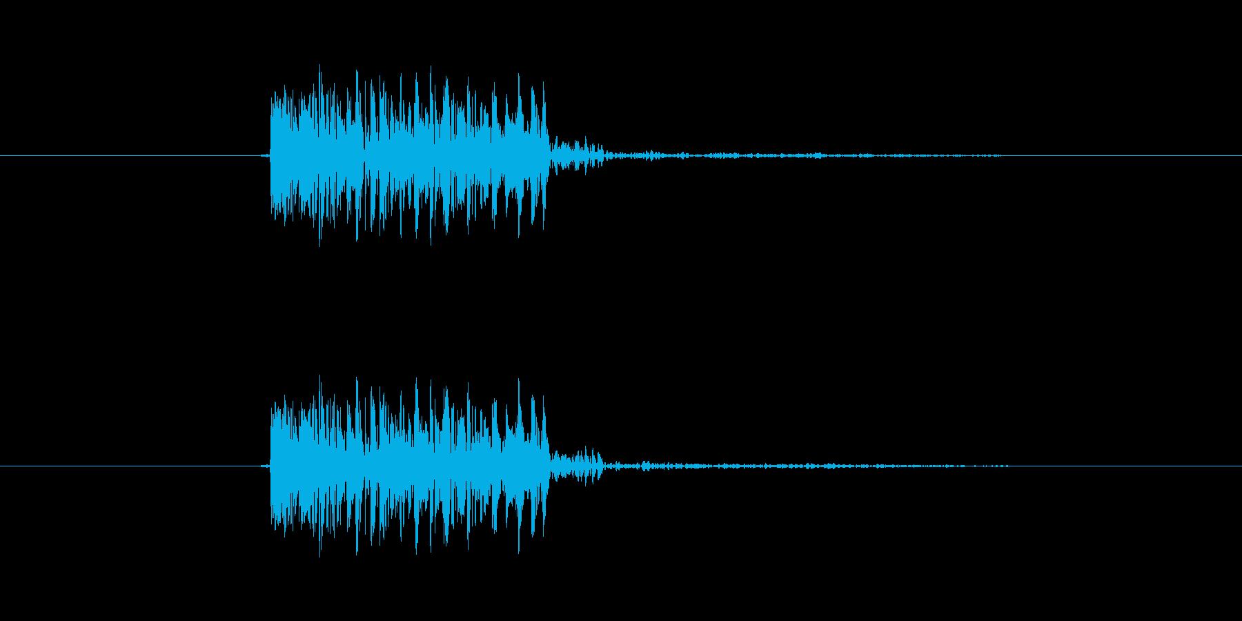 パンチ効果音 打撃 キック ツッコミ の再生済みの波形