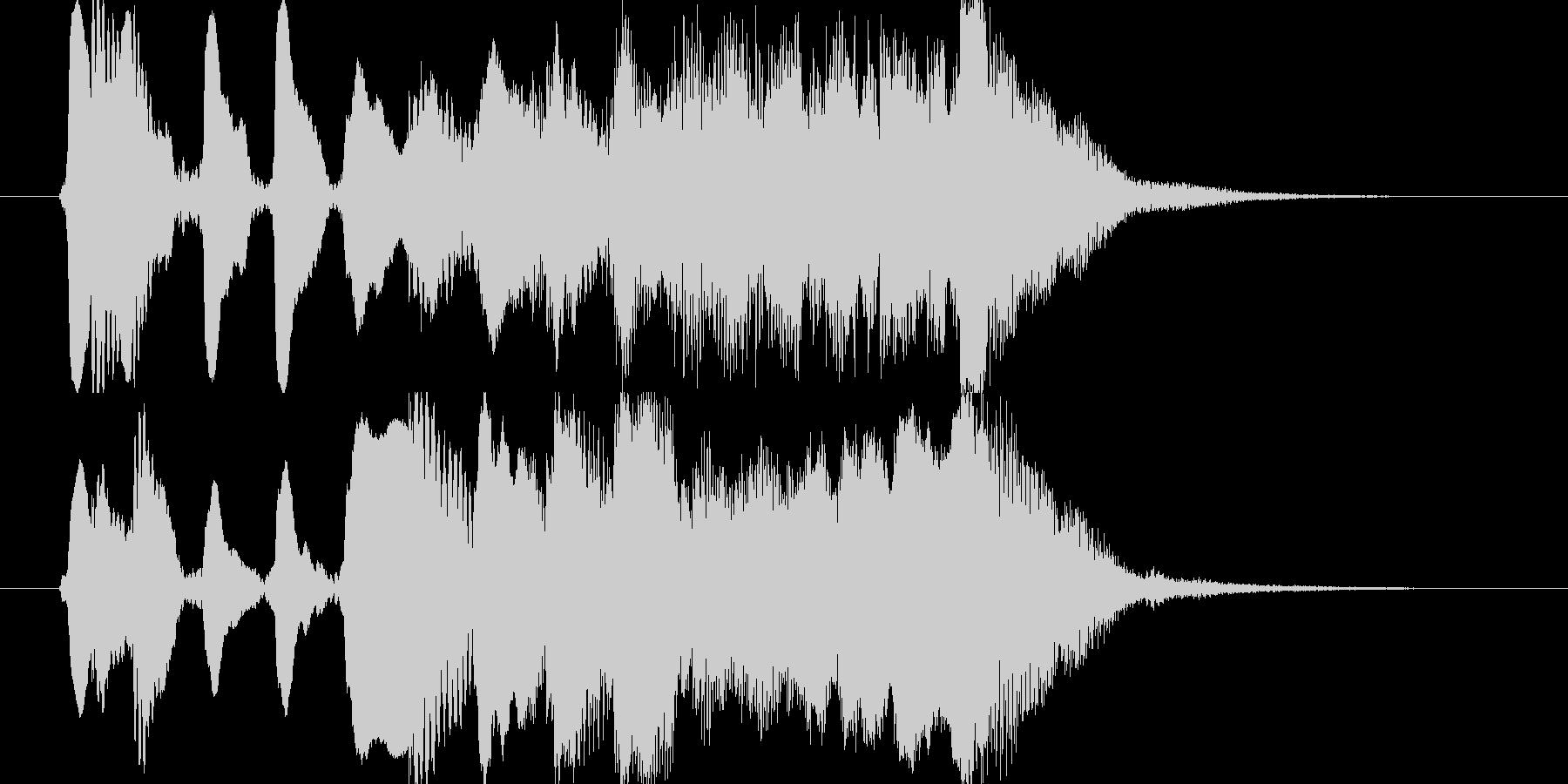 フルート使用のコミカルなジングルの未再生の波形