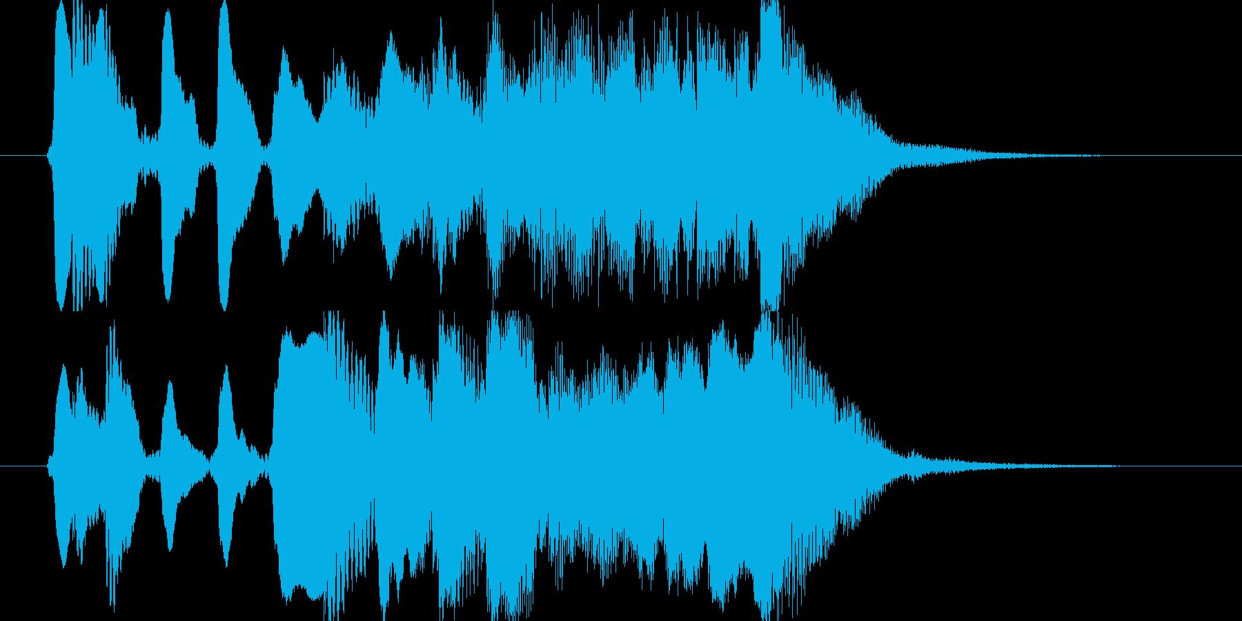 フルート使用のコミカルなジングルの再生済みの波形