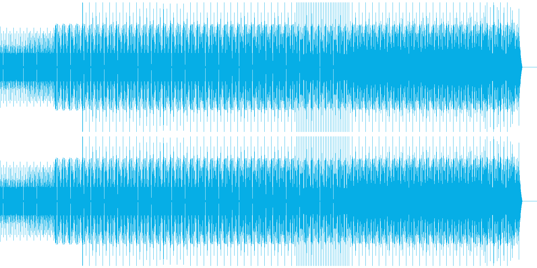 ベース,ハウスの再生済みの波形