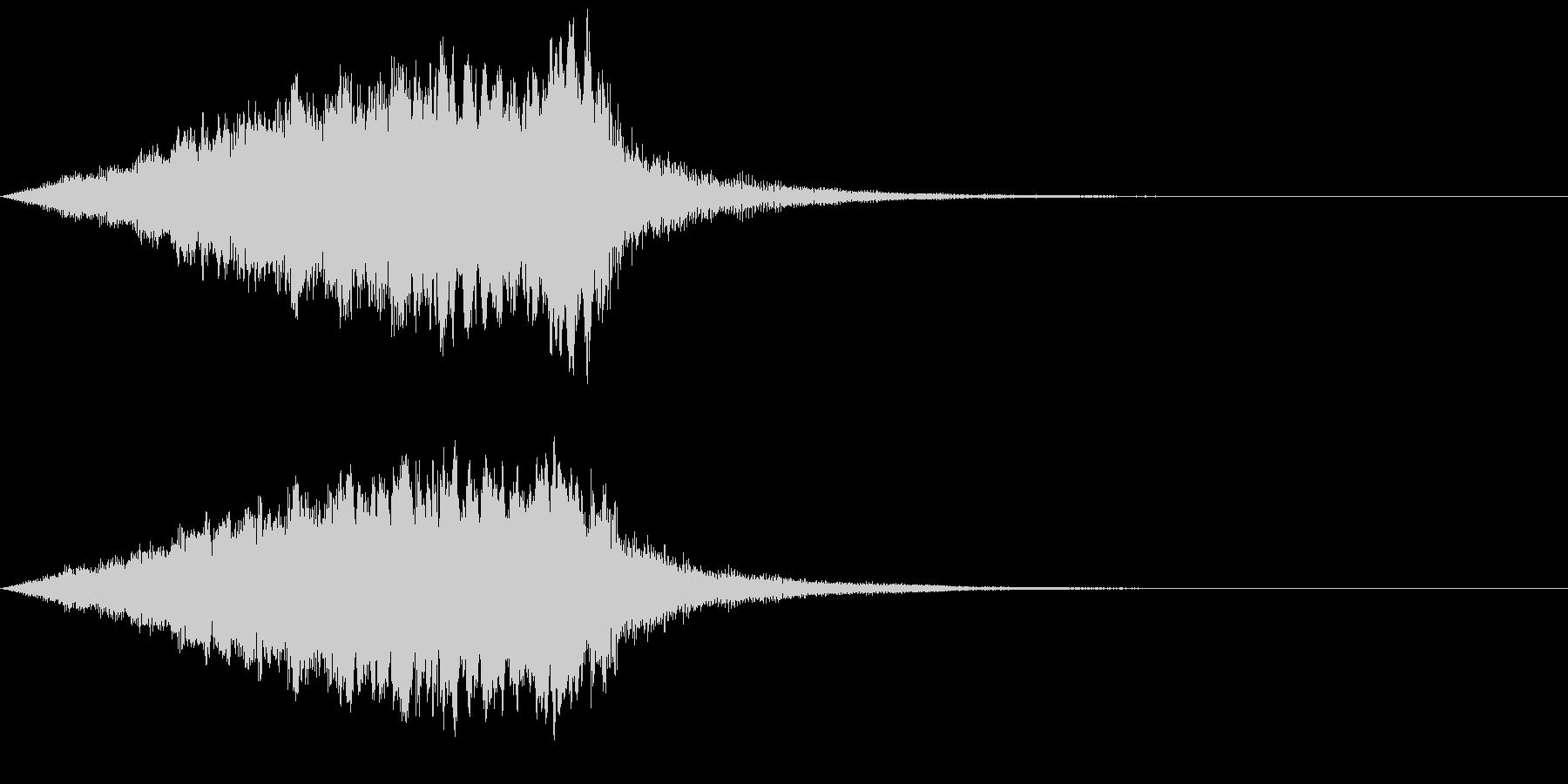 近未来機械音02の未再生の波形