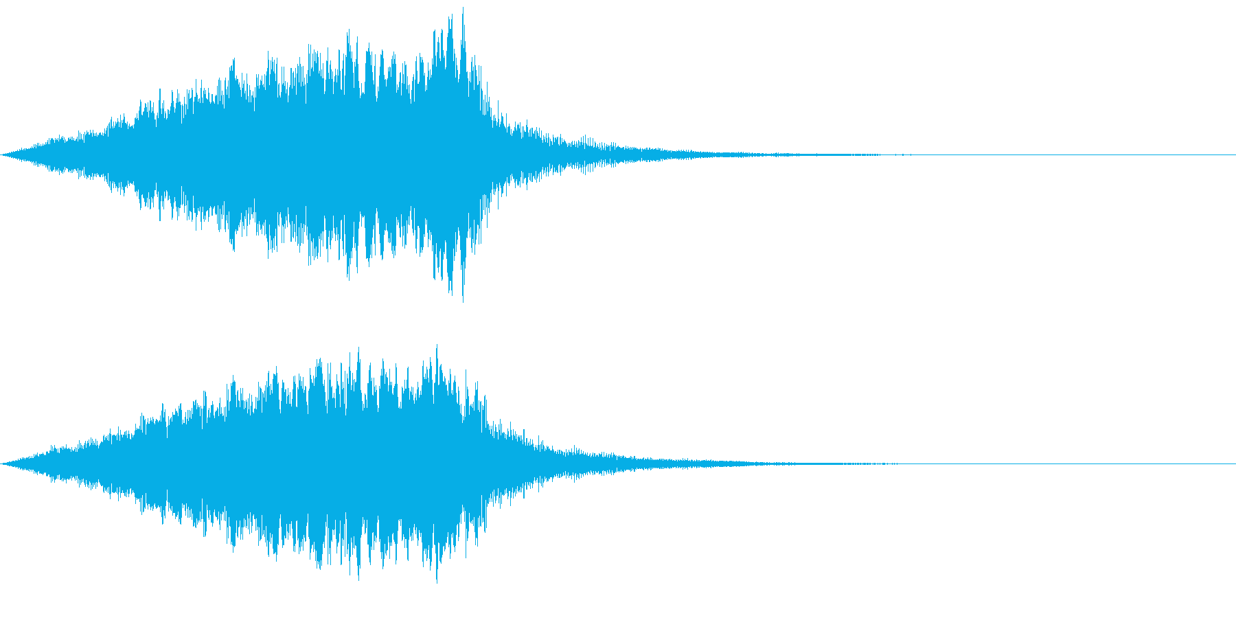 近未来機械音02の再生済みの波形
