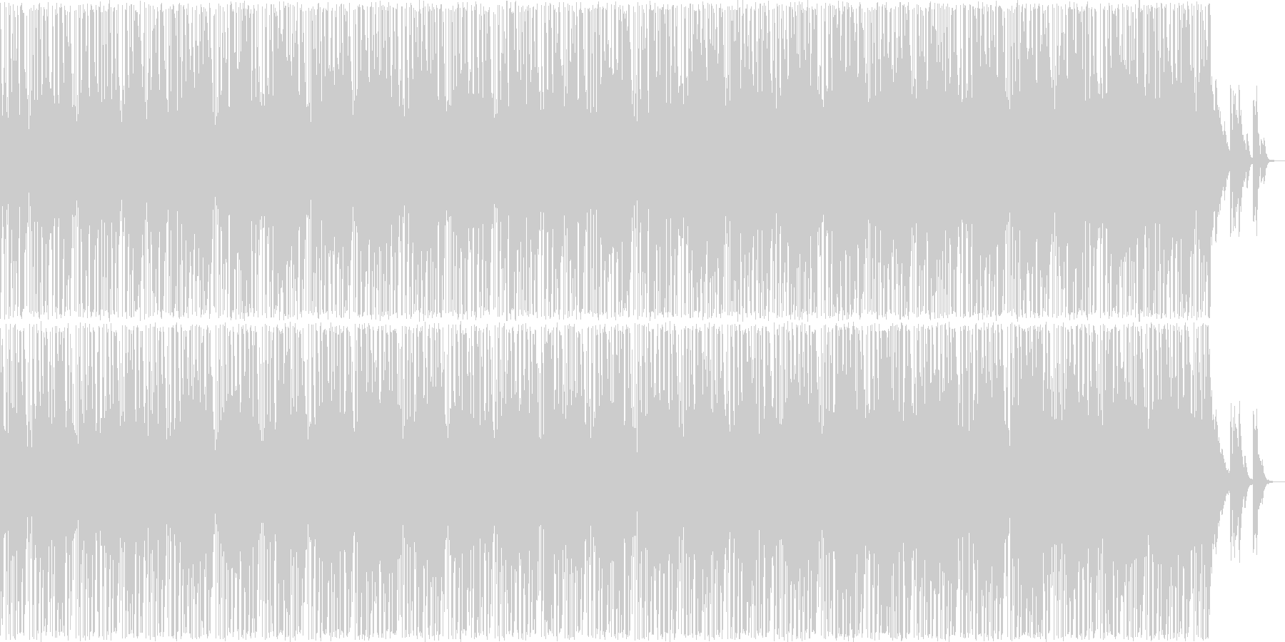 哀愁感あるトラップビートのインストの未再生の波形