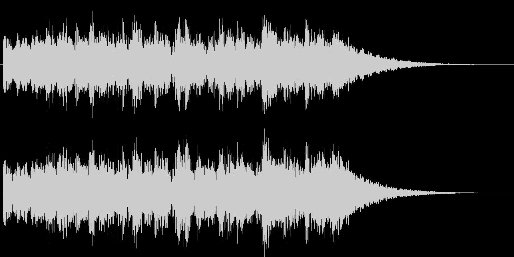 シンセとベルのチャイムの未再生の波形