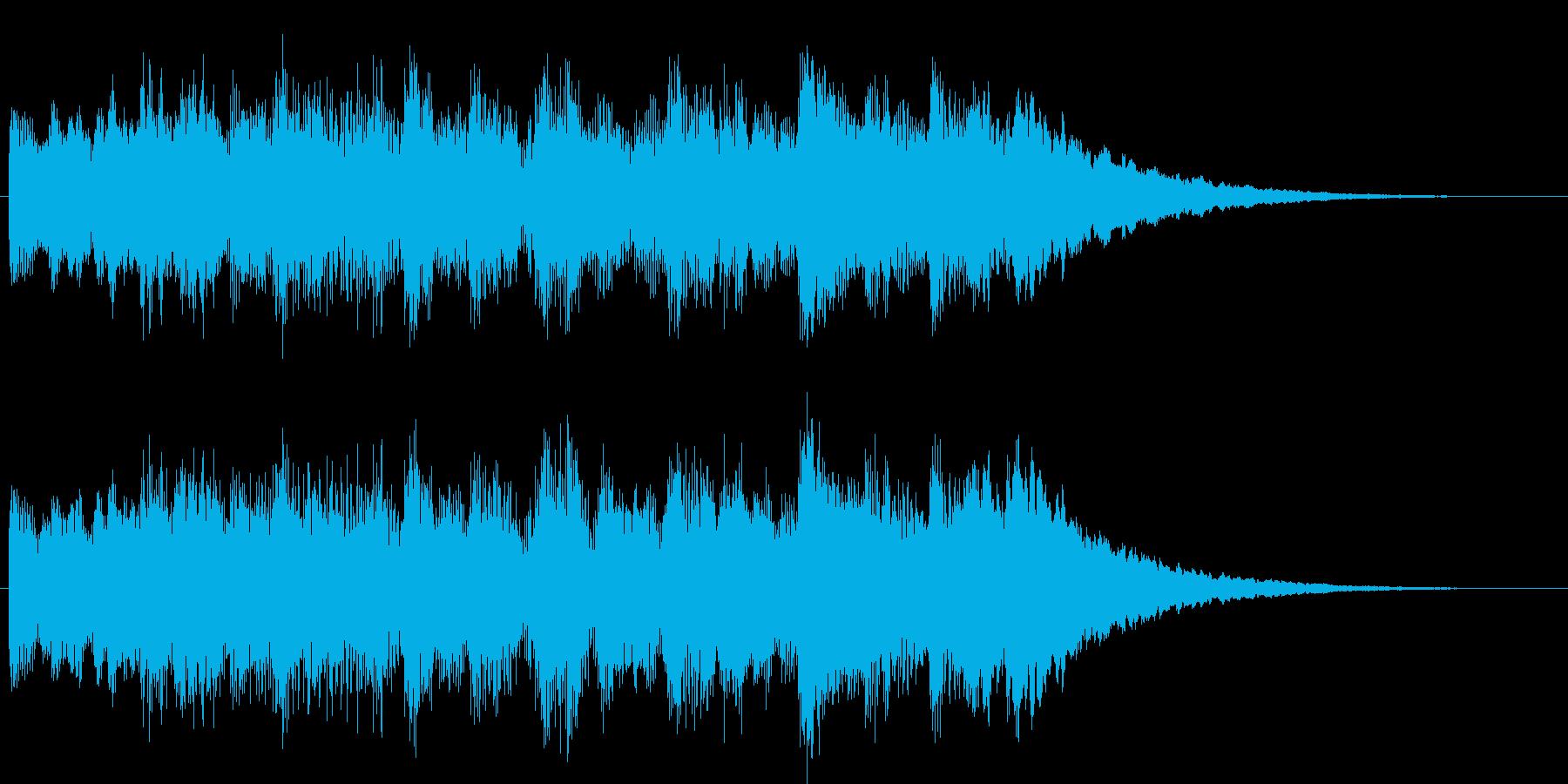 シンセとベルのチャイムの再生済みの波形