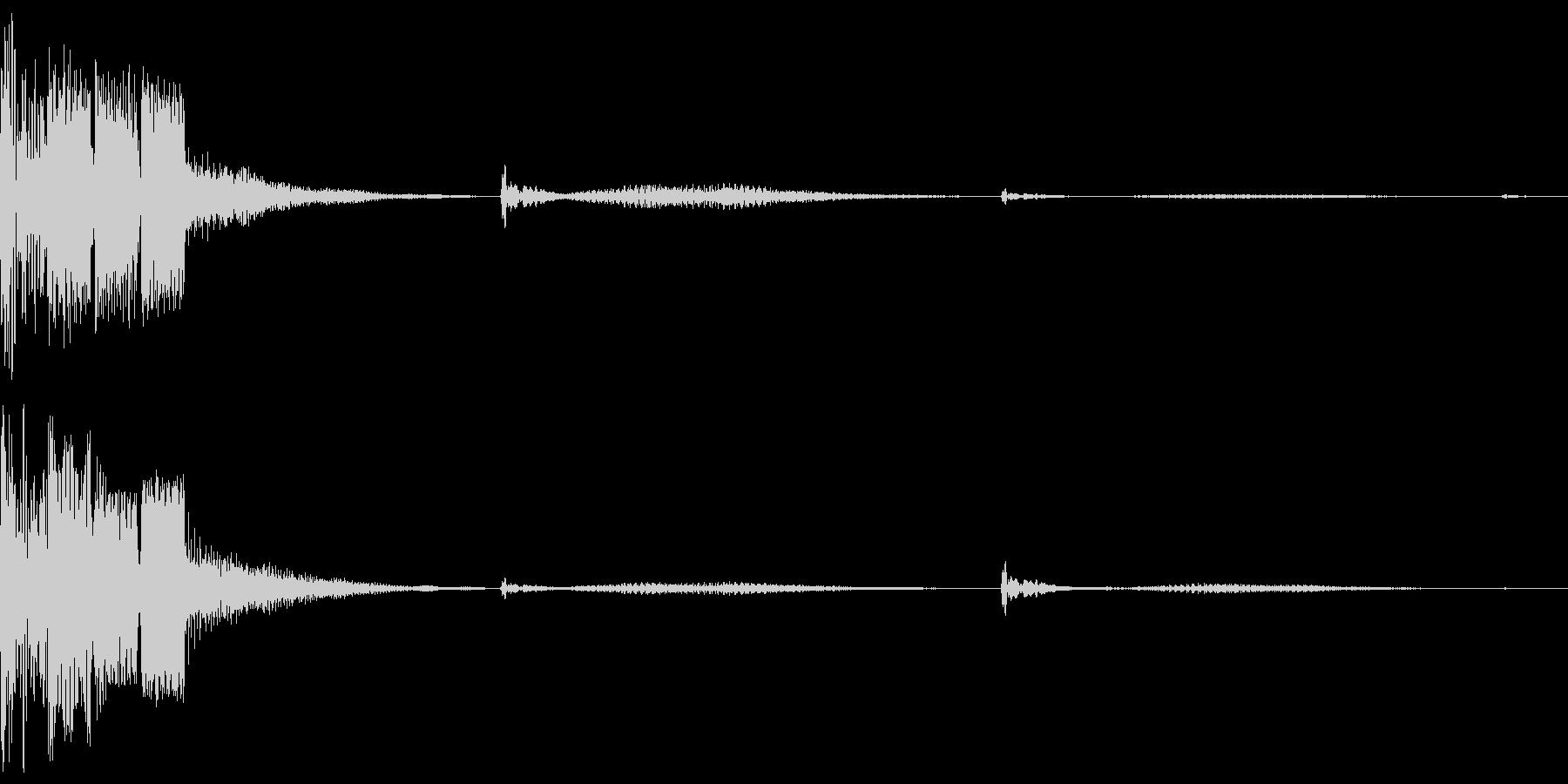 決定ボタン (近未来)の未再生の波形