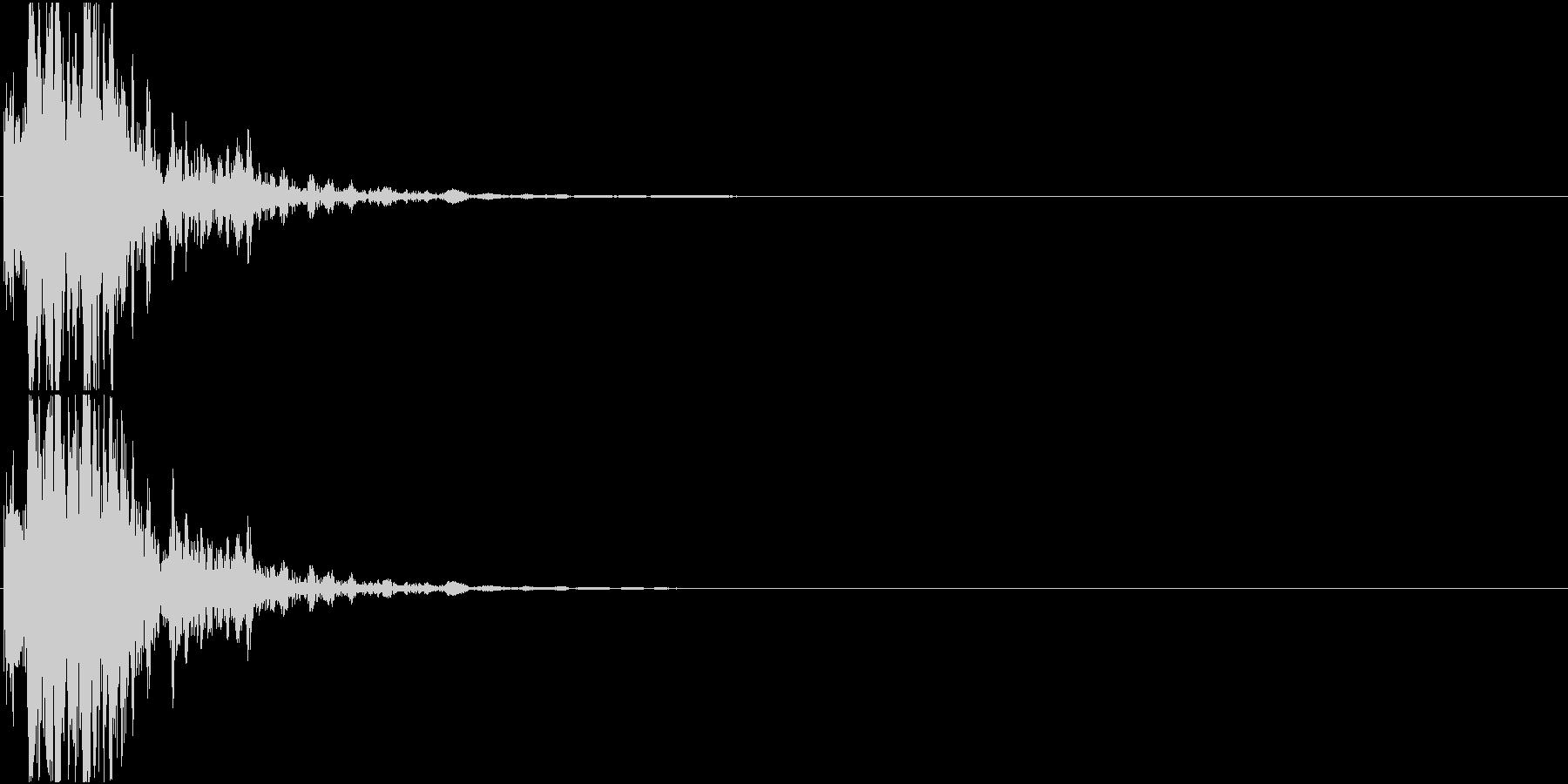光線銃/重ため 発射音の未再生の波形