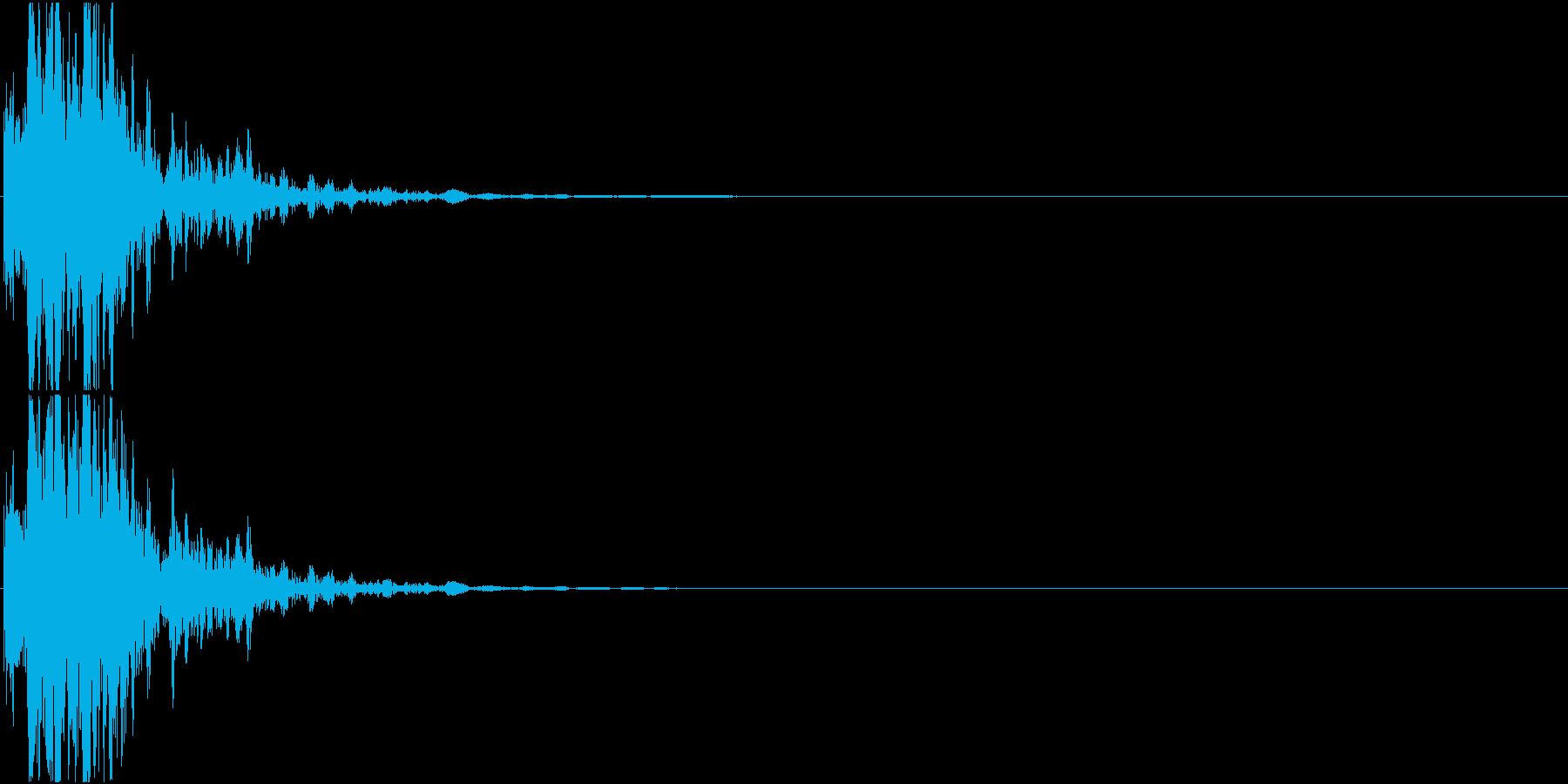 光線銃/重ため 発射音の再生済みの波形