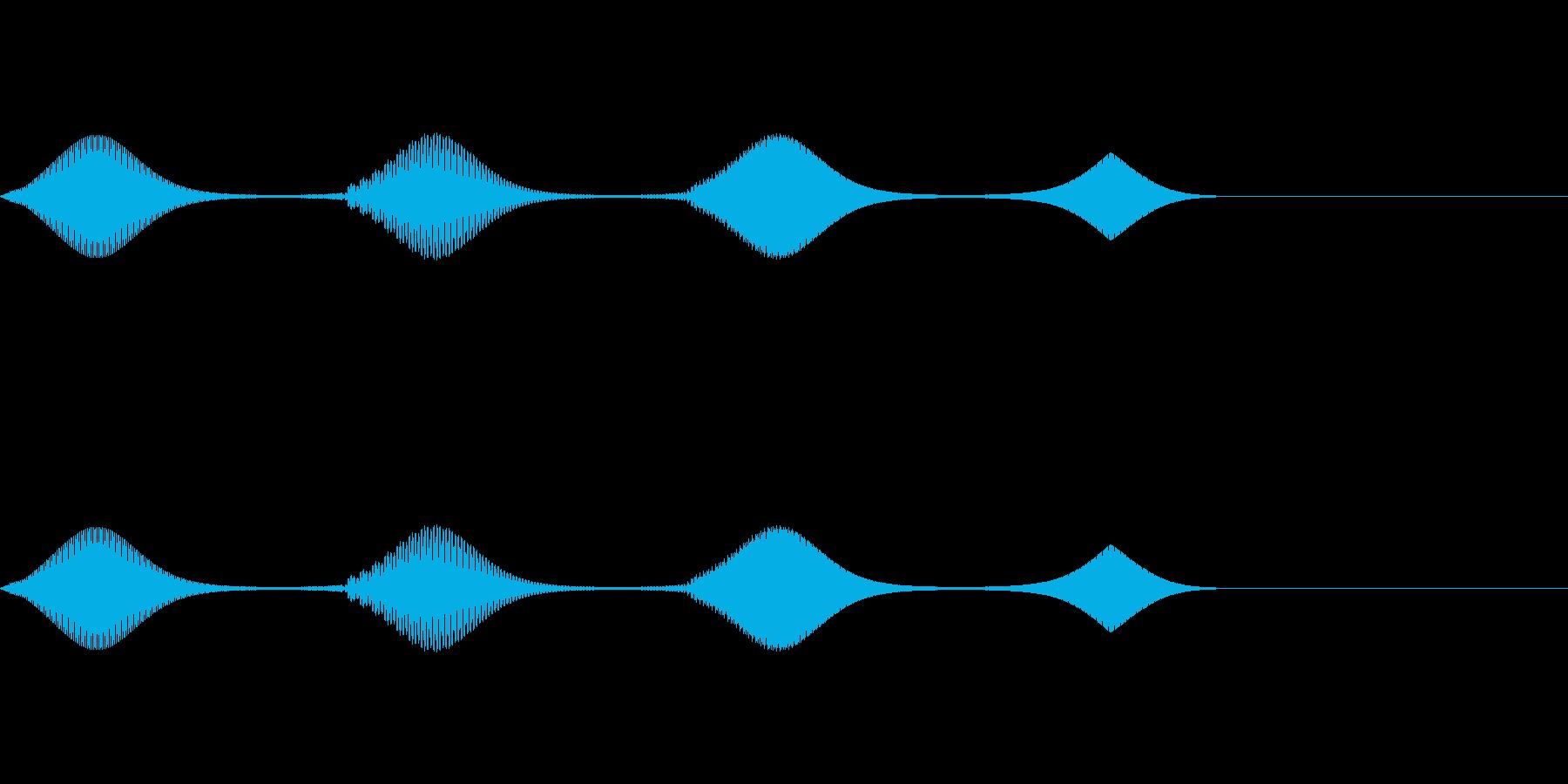 「決定」「選択」などのイメージの再生済みの波形