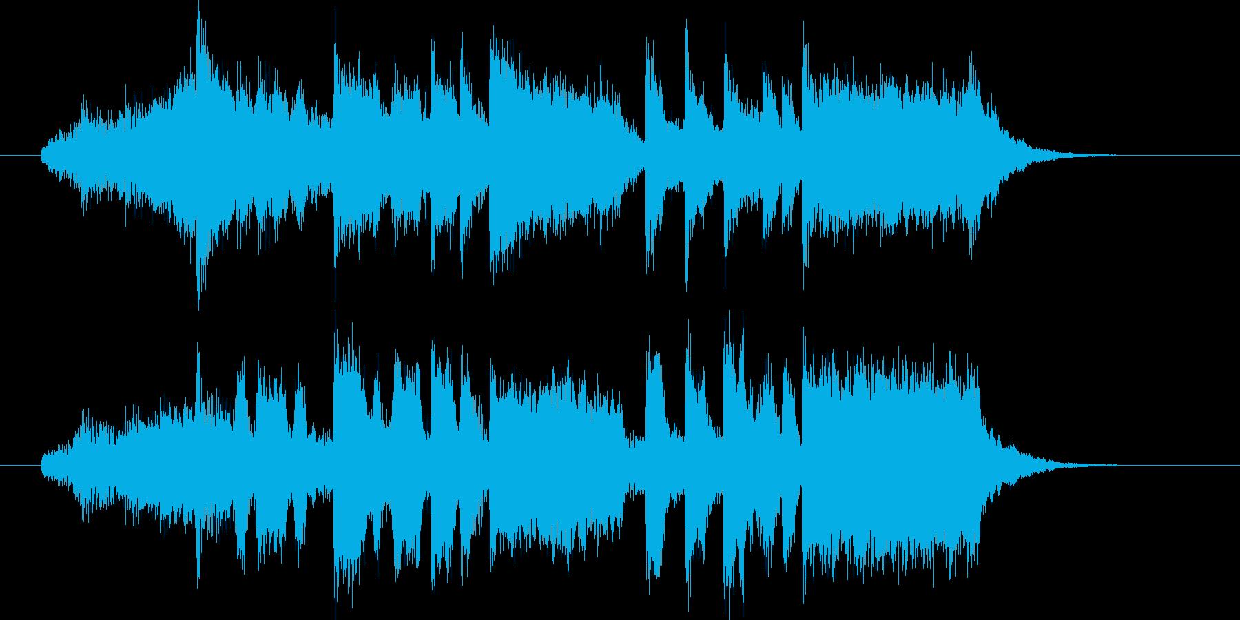 盛大で明るいシンセサイザーサウンドの再生済みの波形