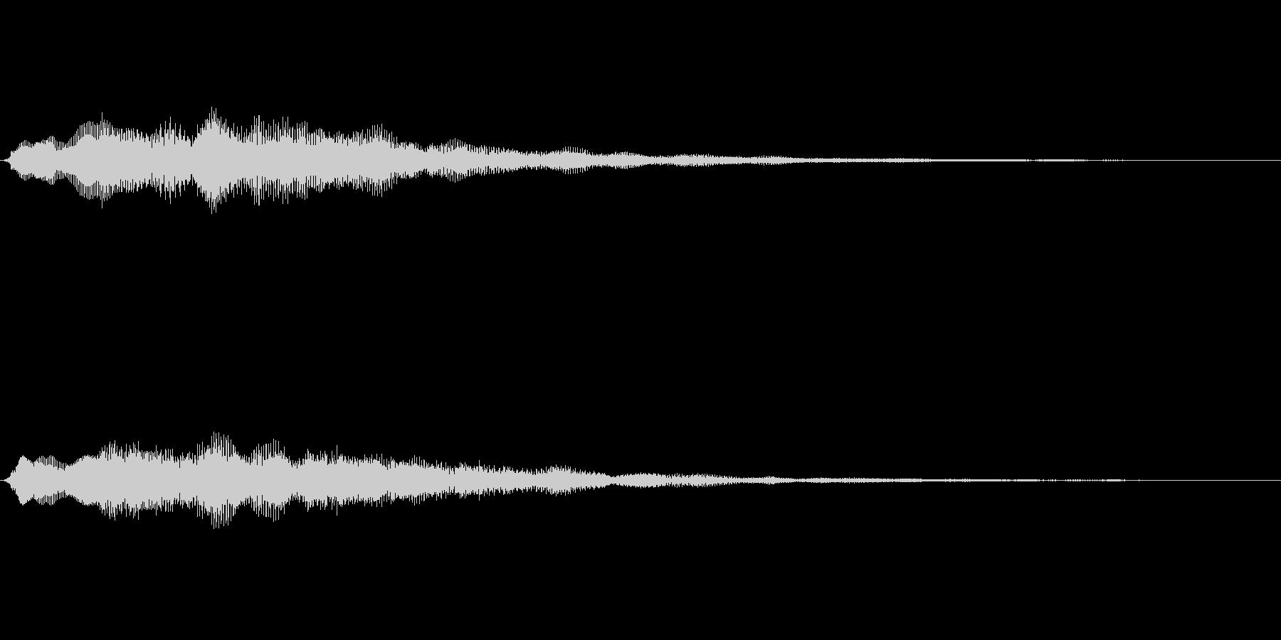 企業ロゴ表示用サウンドロゴ1(シンプル)の未再生の波形