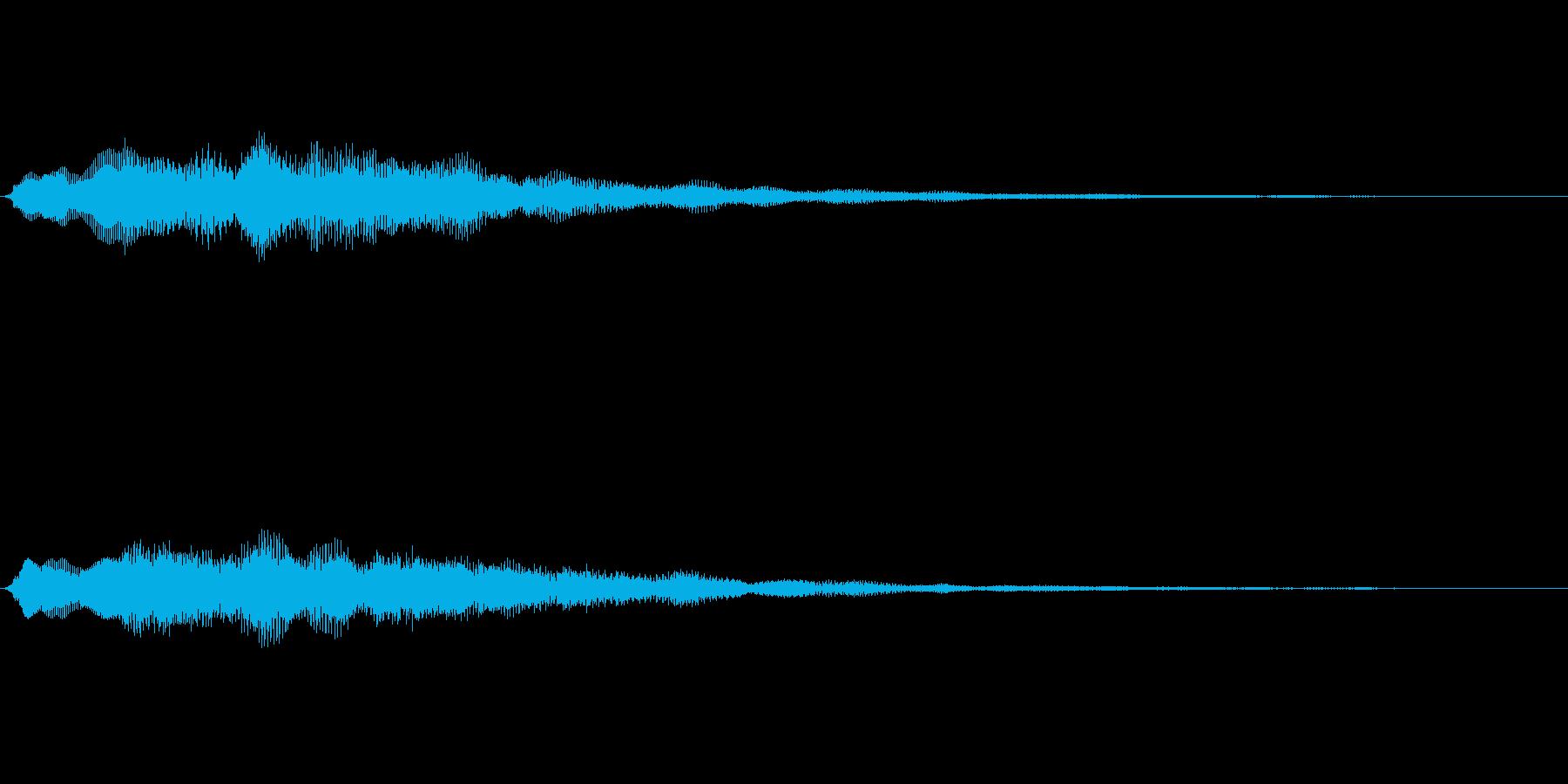 企業ロゴ表示用サウンドロゴ1(シンプル)の再生済みの波形