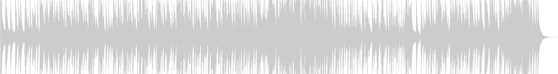 ゆったりとして、さわやかなボサノバの未再生の波形