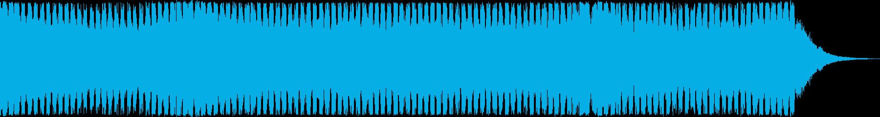 4打ちのトランス系EDMの再生済みの波形