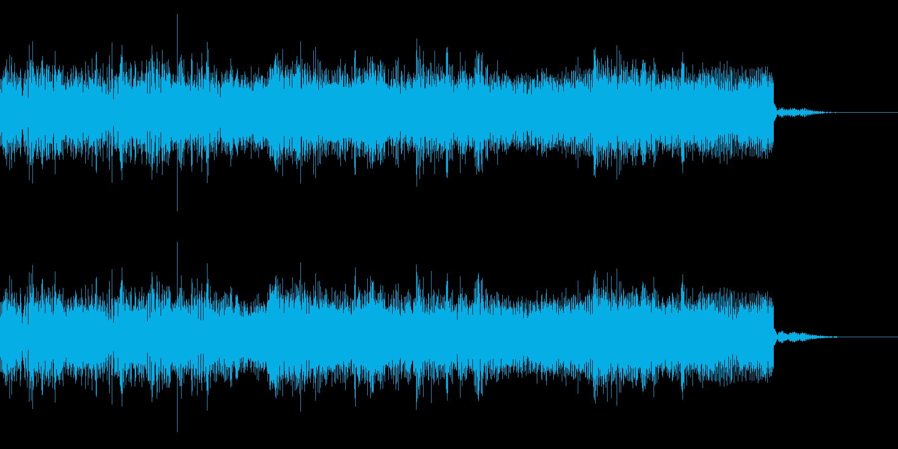 メタルなジングル 場面転換 CMインの再生済みの波形