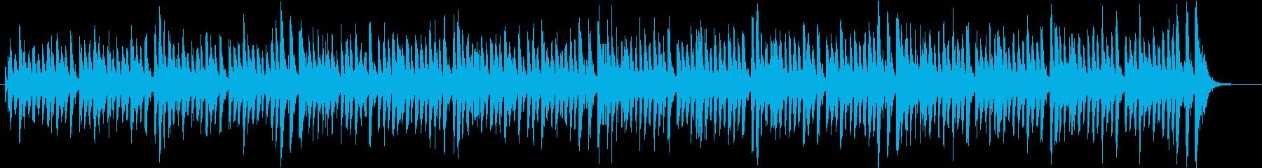 コミカルでポップなルンバ調のジングルの再生済みの波形