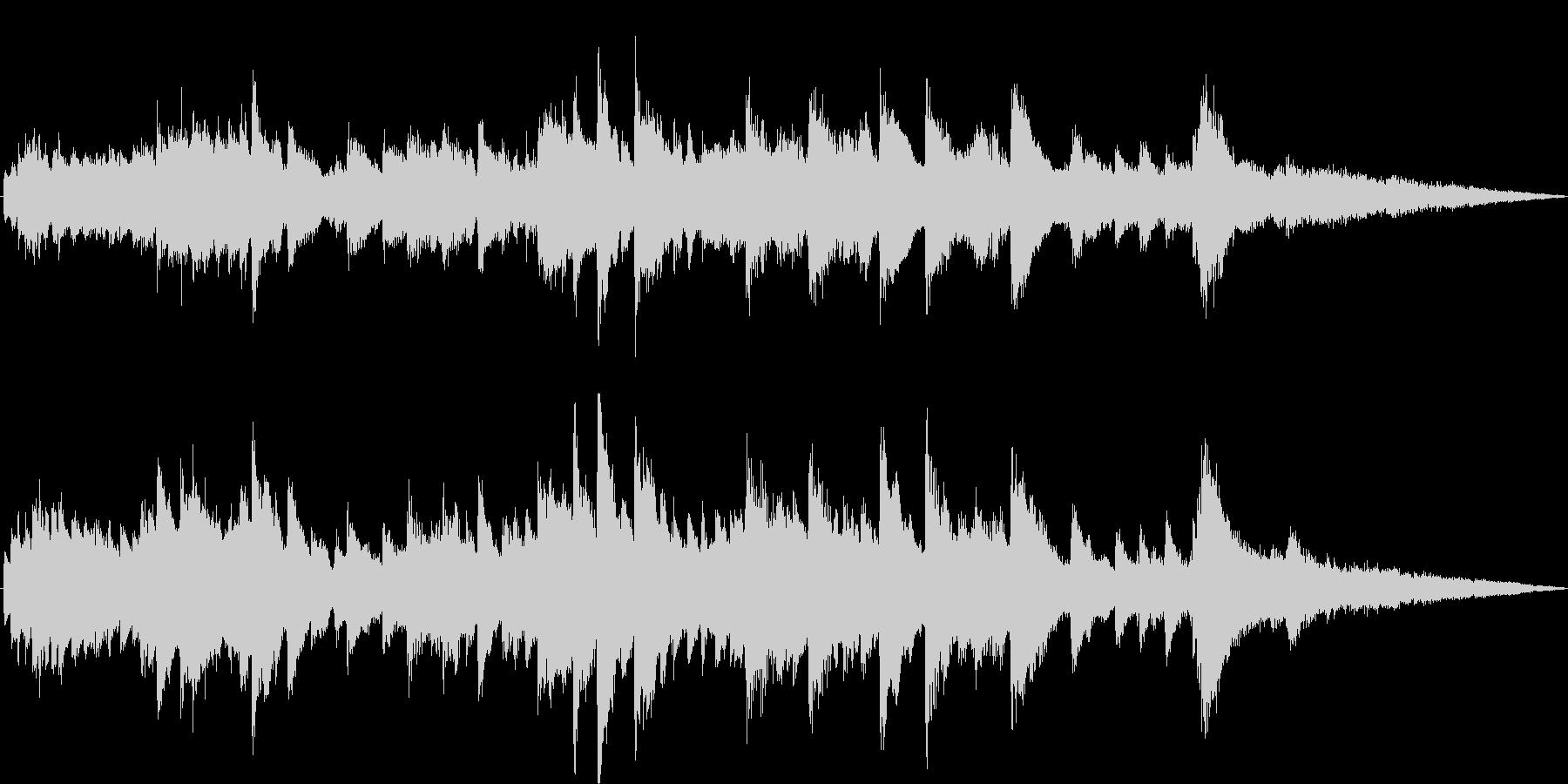 ピアノストリングスによるお洒落なジングルの未再生の波形