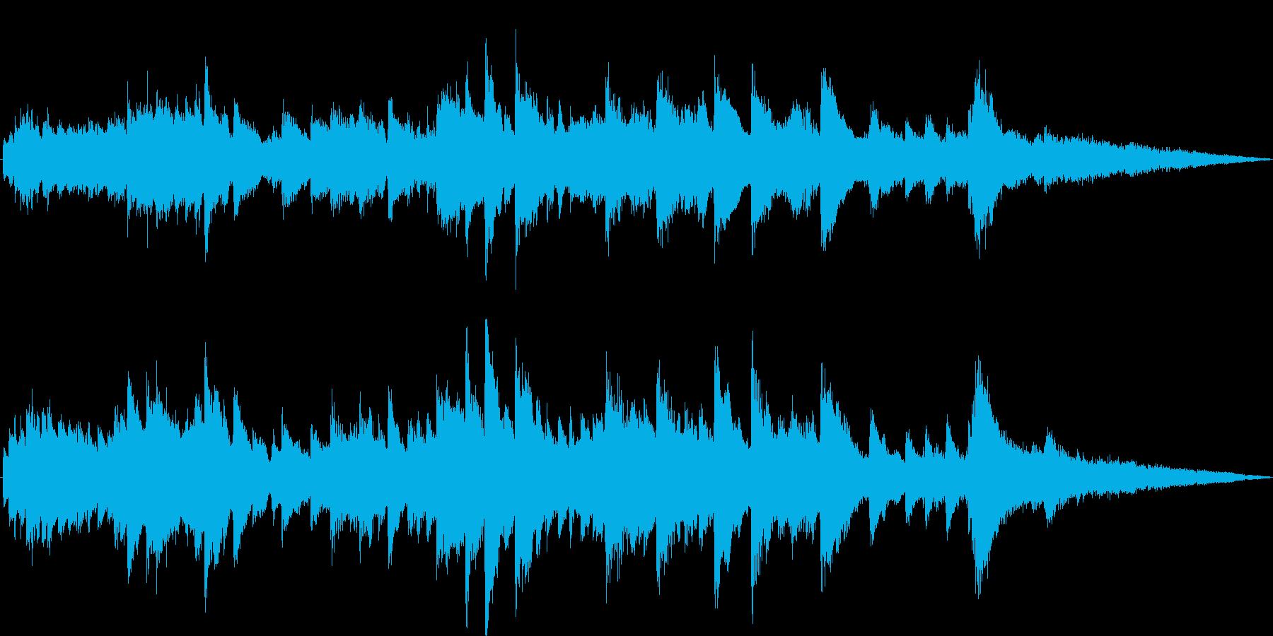 ピアノストリングスによるお洒落なジングルの再生済みの波形