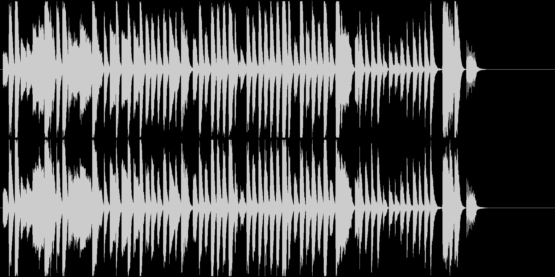 ジングル レトロでかわいい印象ピアノソロの未再生の波形