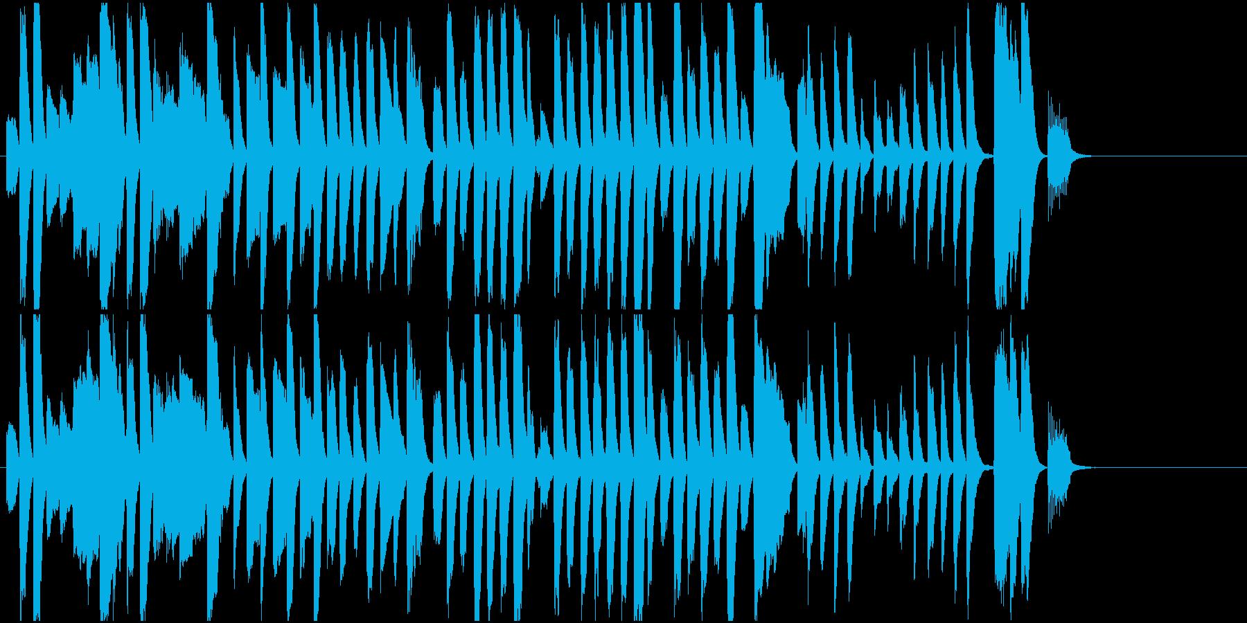 ジングル レトロでかわいい印象ピアノソロの再生済みの波形