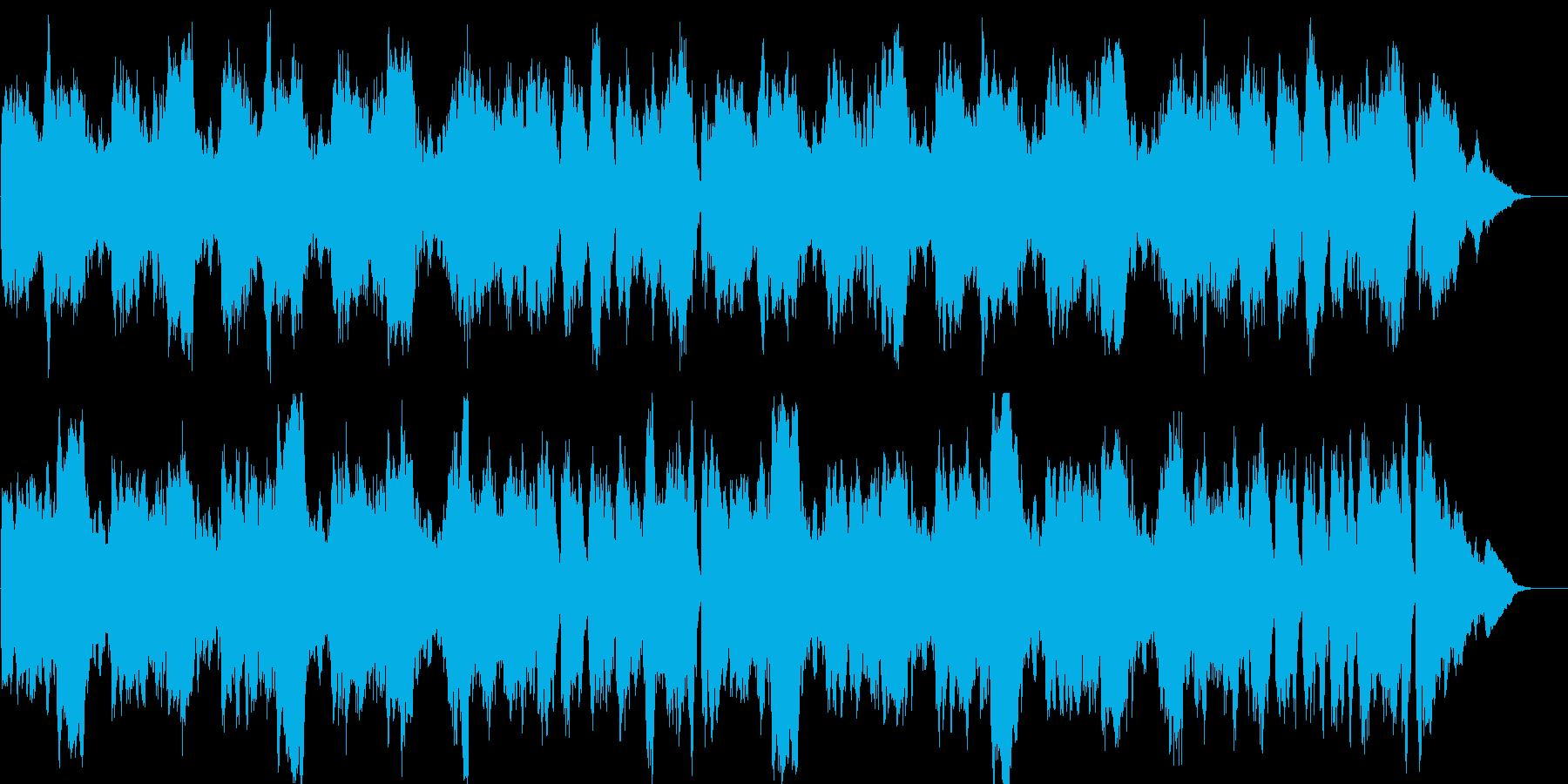 牧歌的なオーケストラ楽曲の再生済みの波形