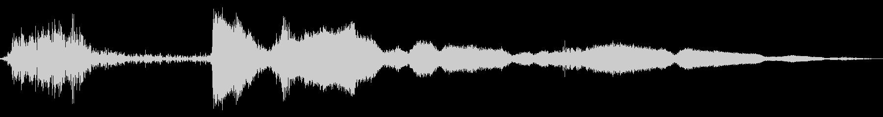 レジの音の未再生の波形