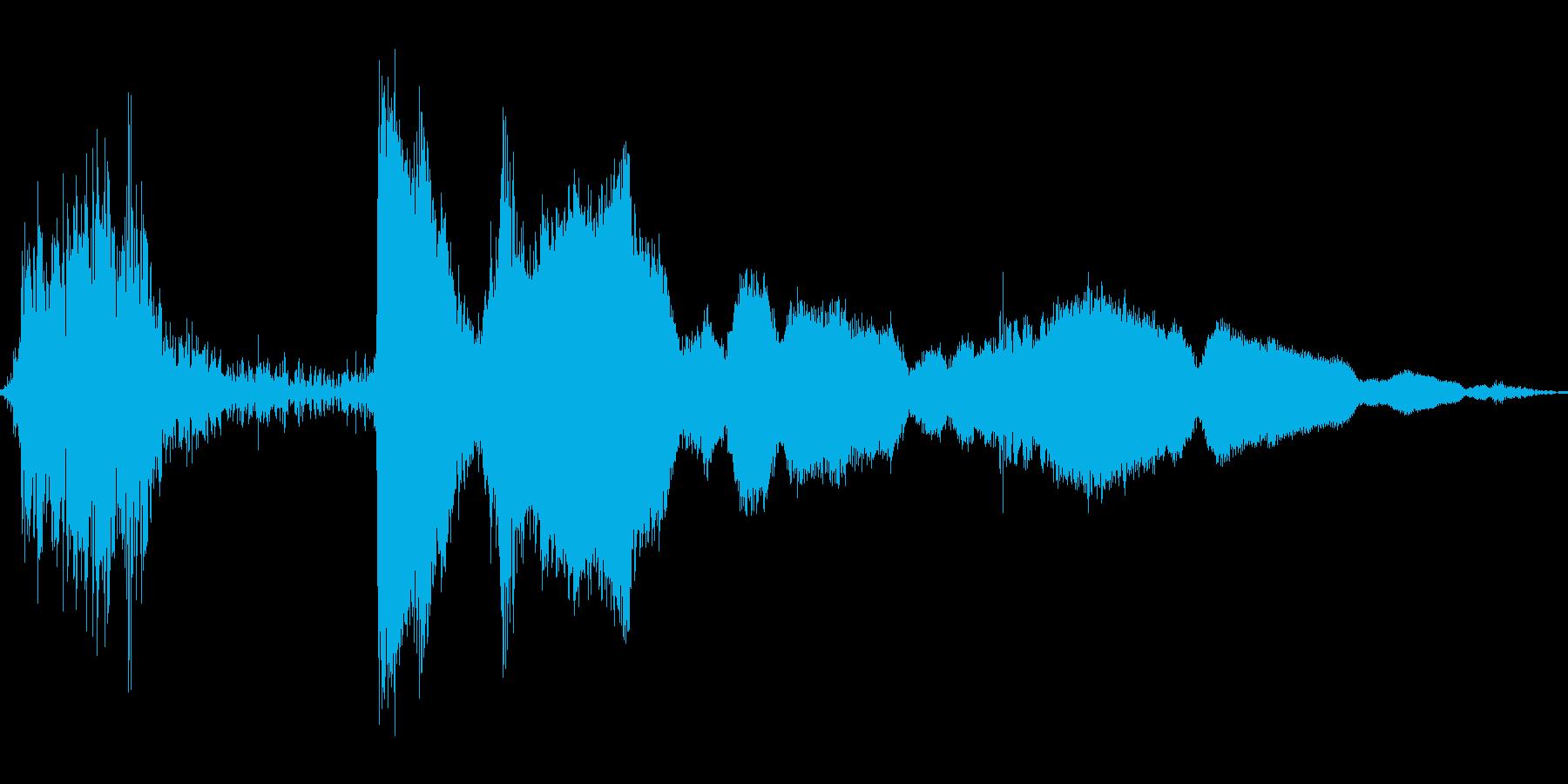 レジの音の再生済みの波形