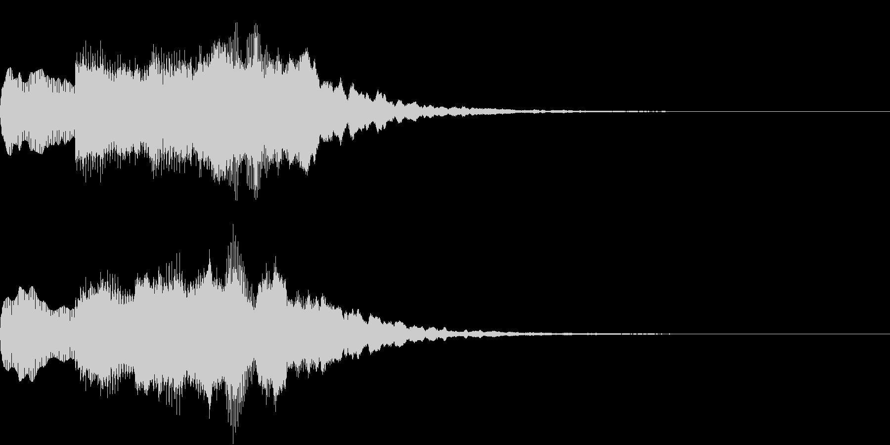 シンプル アナウンス 案内 放送 9の未再生の波形