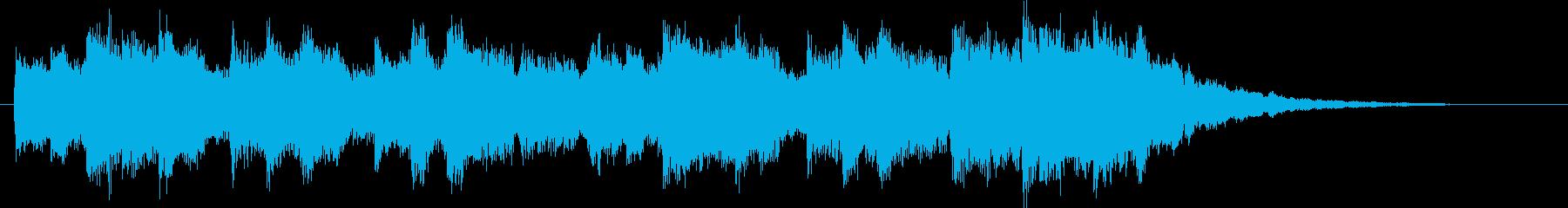 さわやかなクリスタルチャイムの再生済みの波形