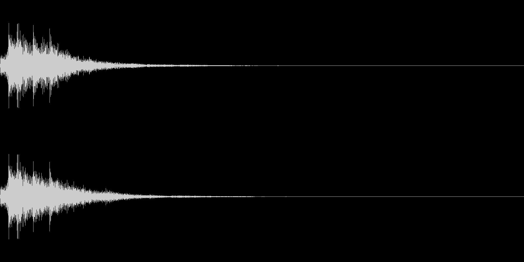 ピロン(ゲーム・アプリ等の決定音)の未再生の波形