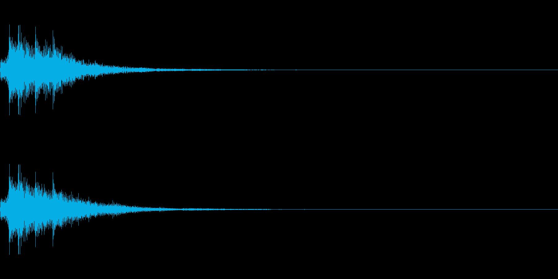 ピロン(ゲーム・アプリ等の決定音)の再生済みの波形
