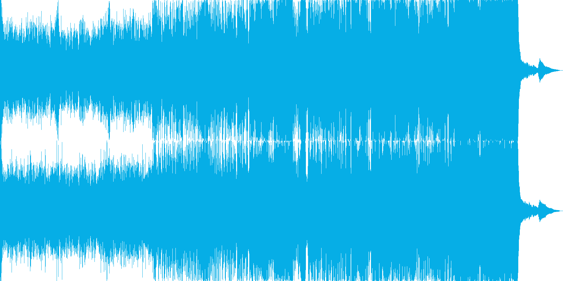 ジングルベルのオーケストラアレンジ版ですの再生済みの波形