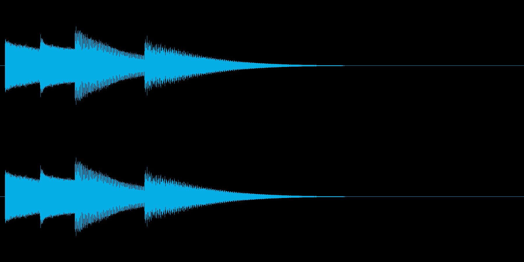 ちょっとだけ凝ったチャイムの再生済みの波形