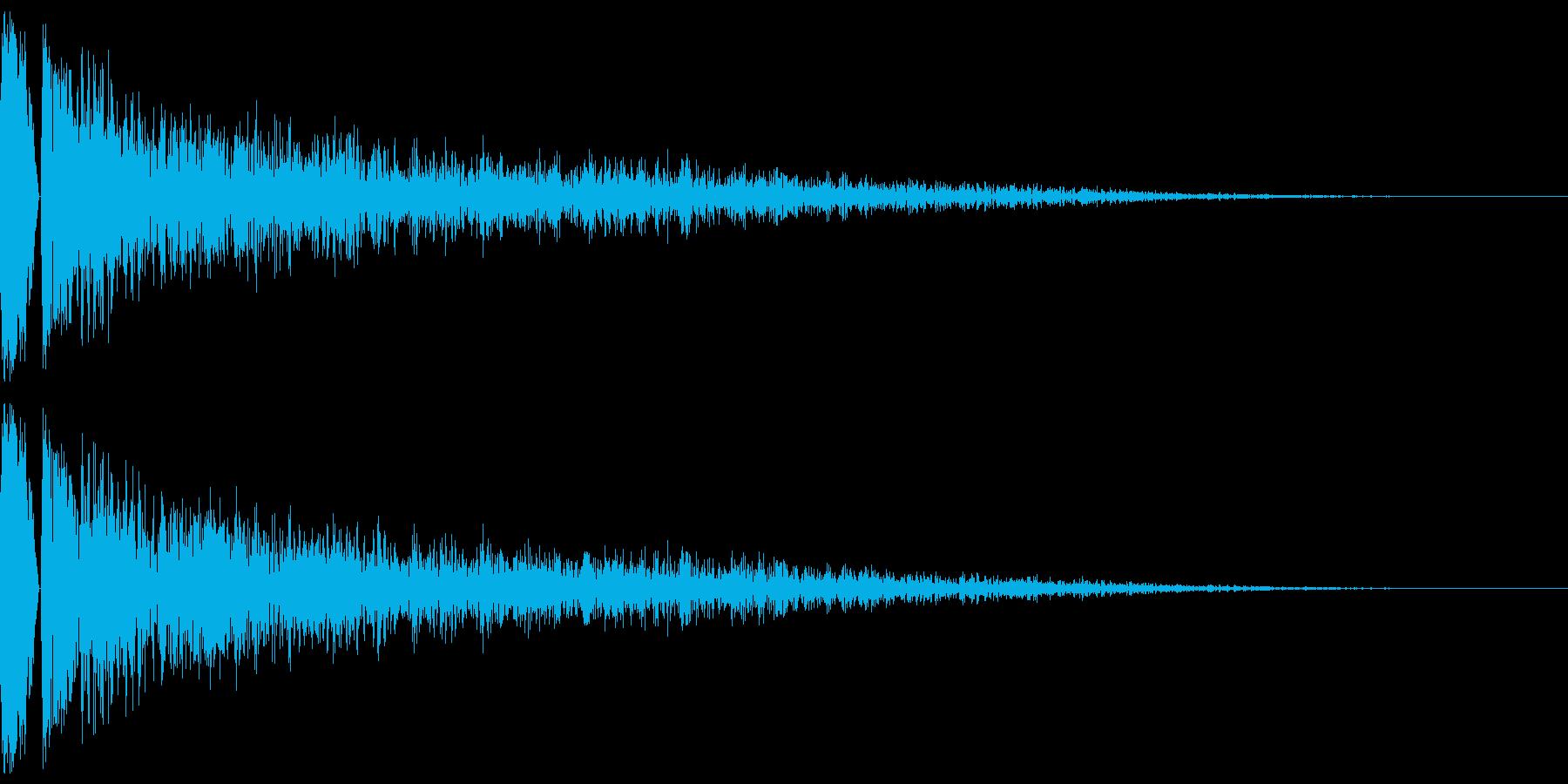 カコーンという余韻長めの木の和風SEですの再生済みの波形