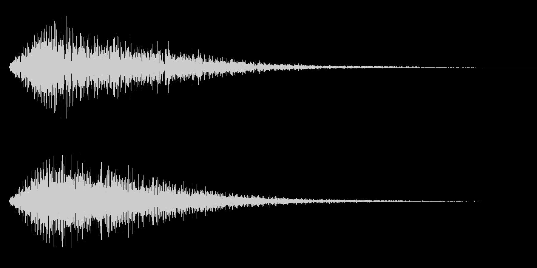 シューッという蒸気の音の未再生の波形