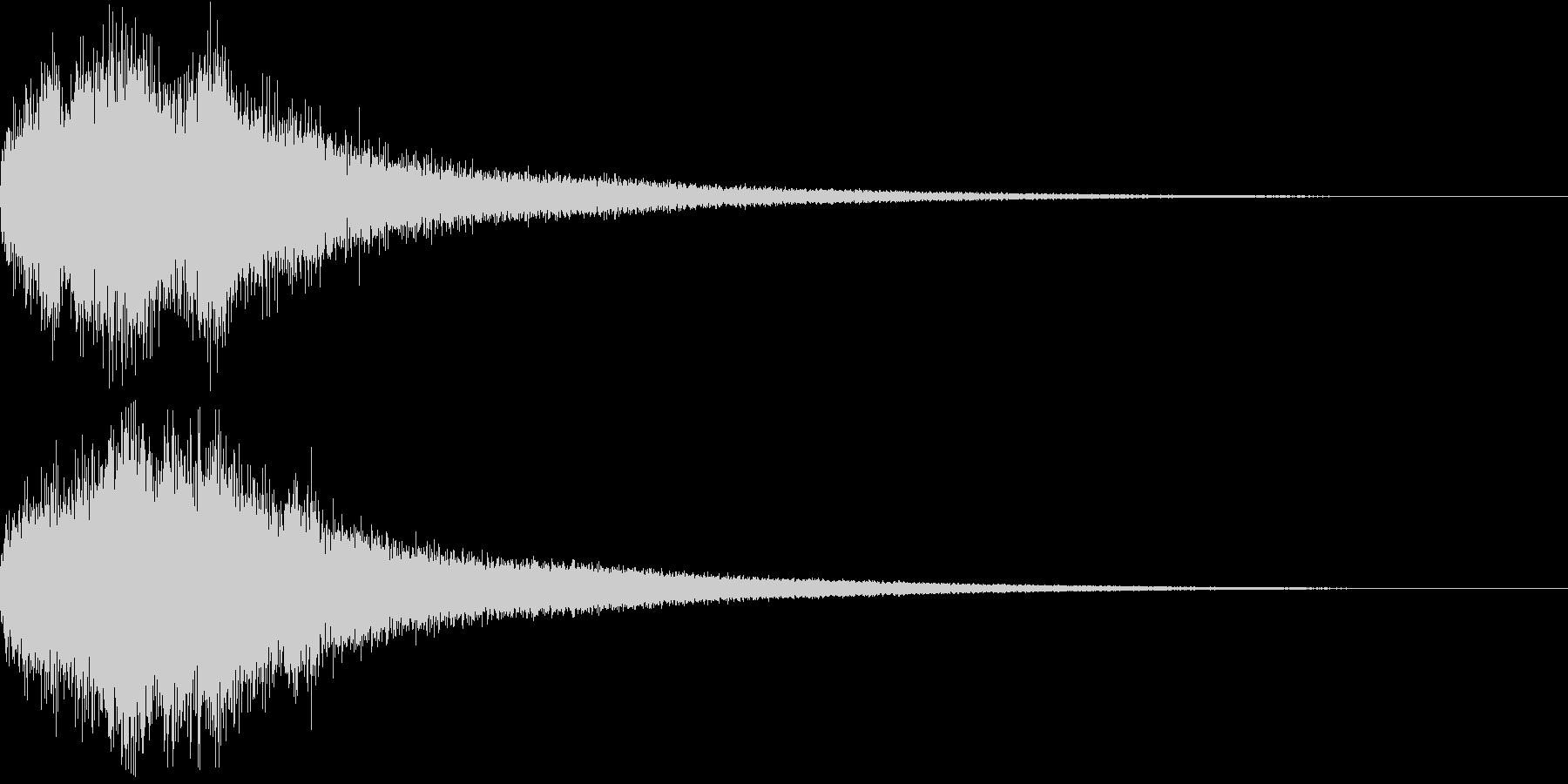 胡弓とチャイナシンバルの中国ジングル18の未再生の波形
