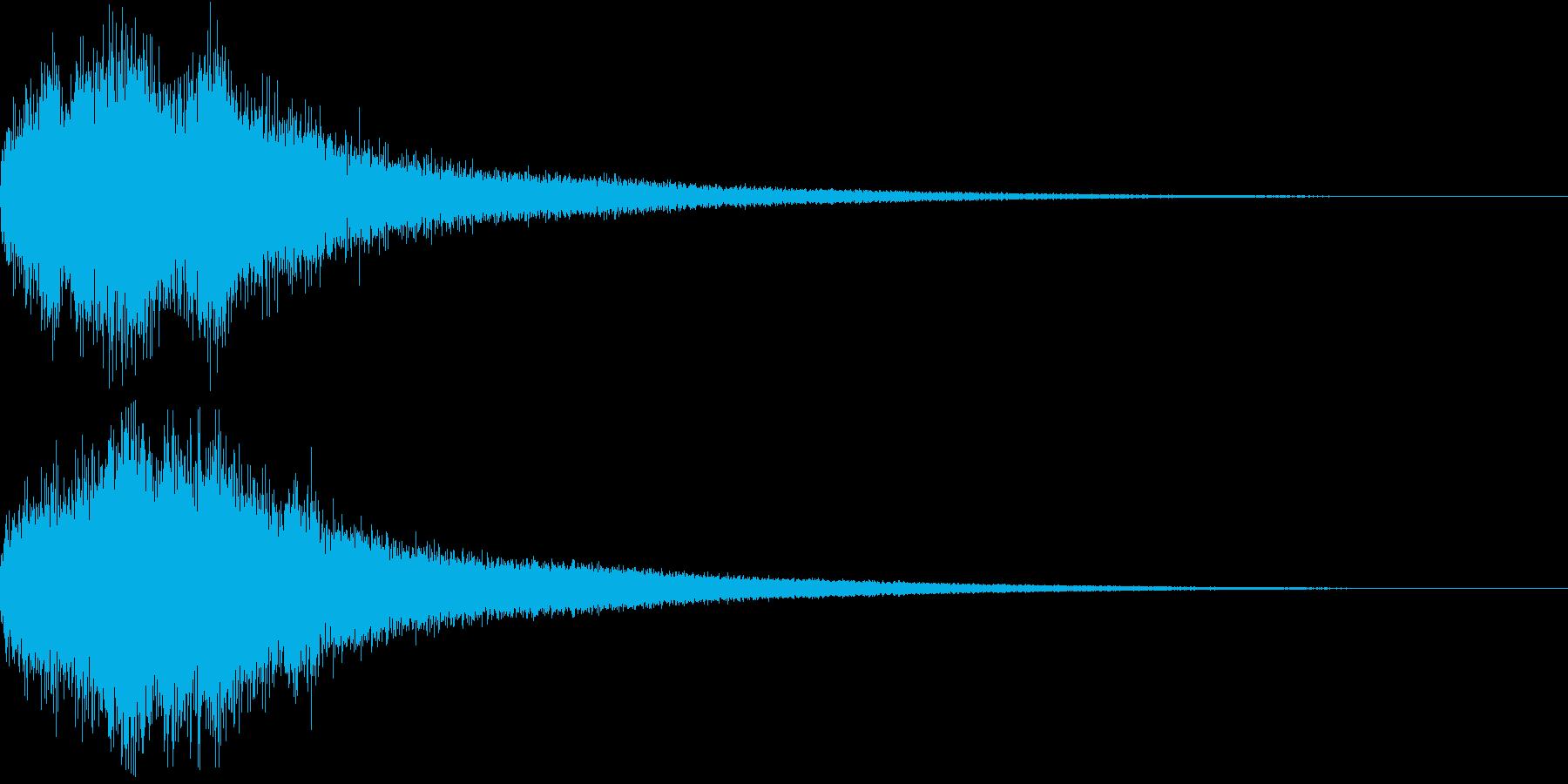 胡弓とチャイナシンバルの中国ジングル18の再生済みの波形