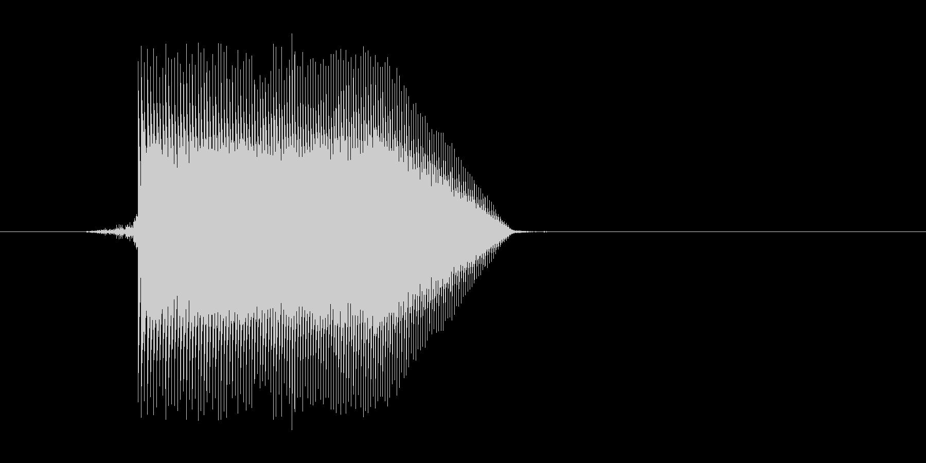 ゲーム(ファミコン風)ジャンプ音_035の未再生の波形