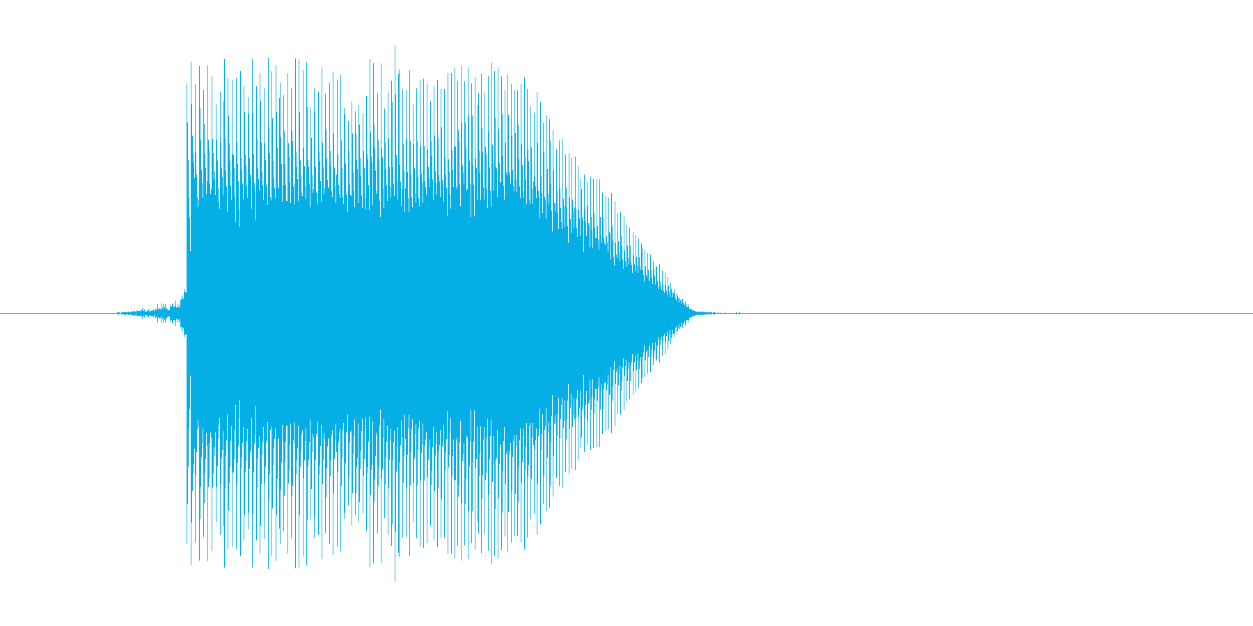 ゲーム(ファミコン風)ジャンプ音_035の再生済みの波形