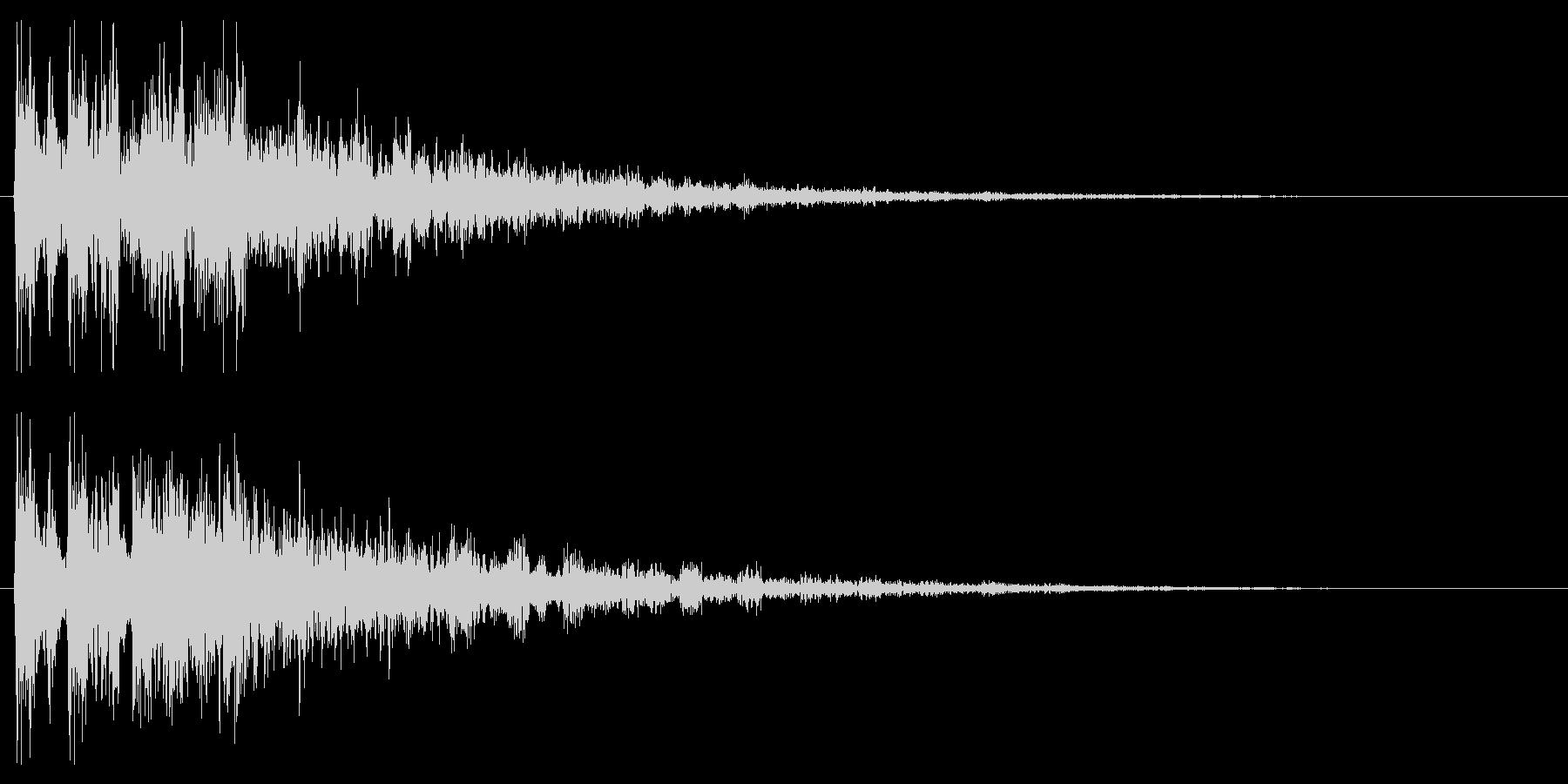 ファンタジックな決定音 クリック音の未再生の波形