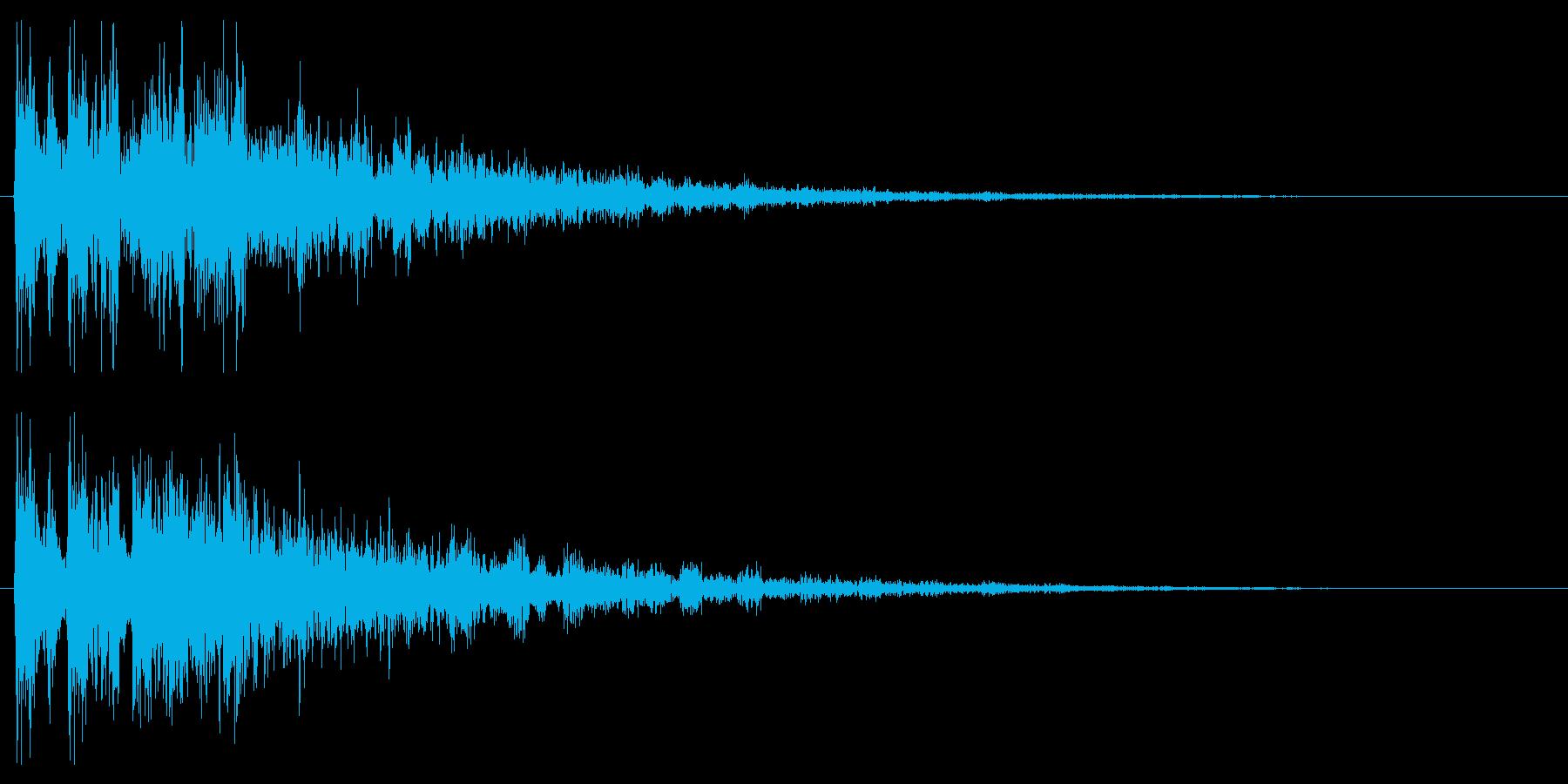 ファンタジックな決定音 クリック音の再生済みの波形