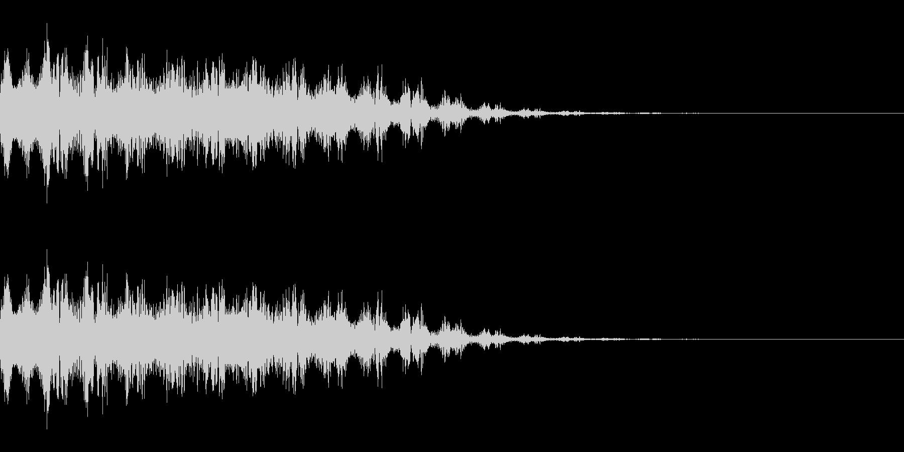 レーザー銃を撃つ音(SF/宇宙/光線)の未再生の波形